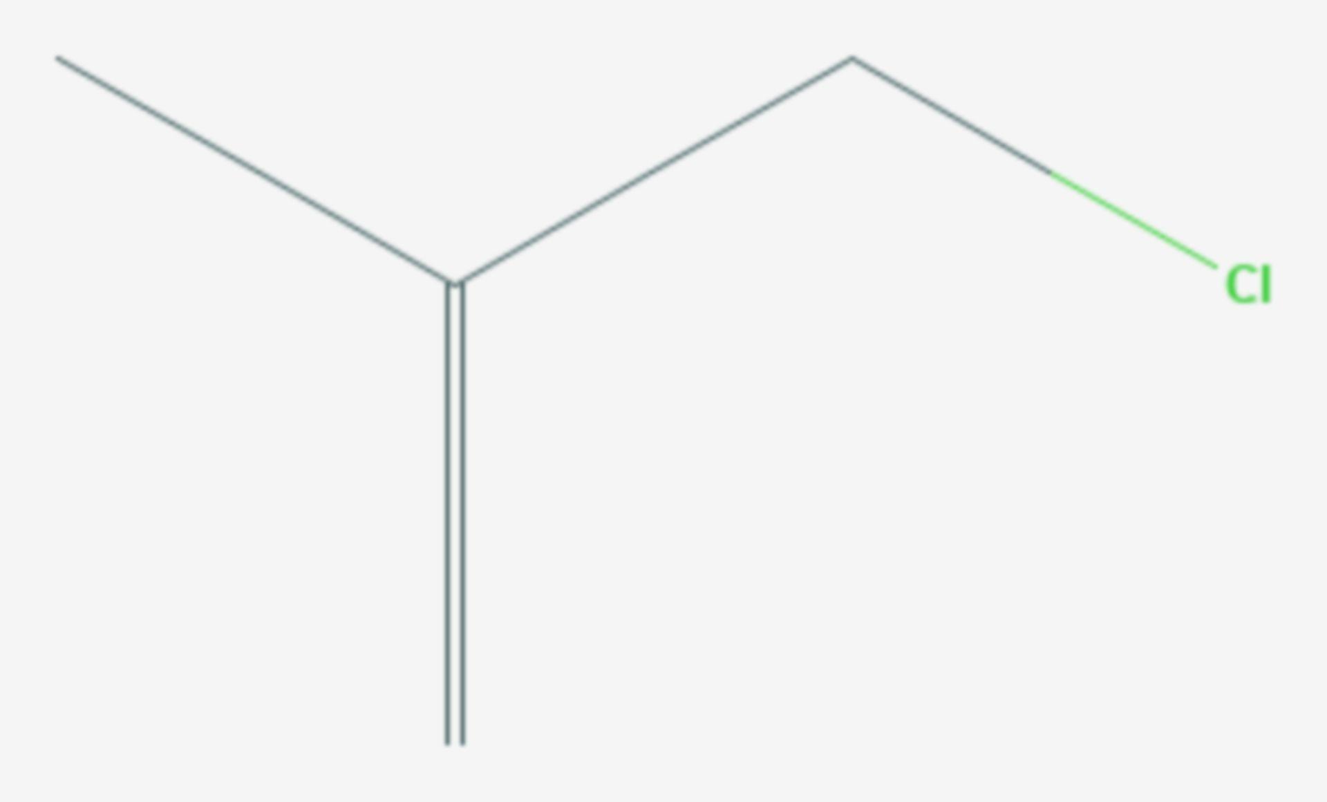 3-Chlor-2-methylpropen (Strukturformel)