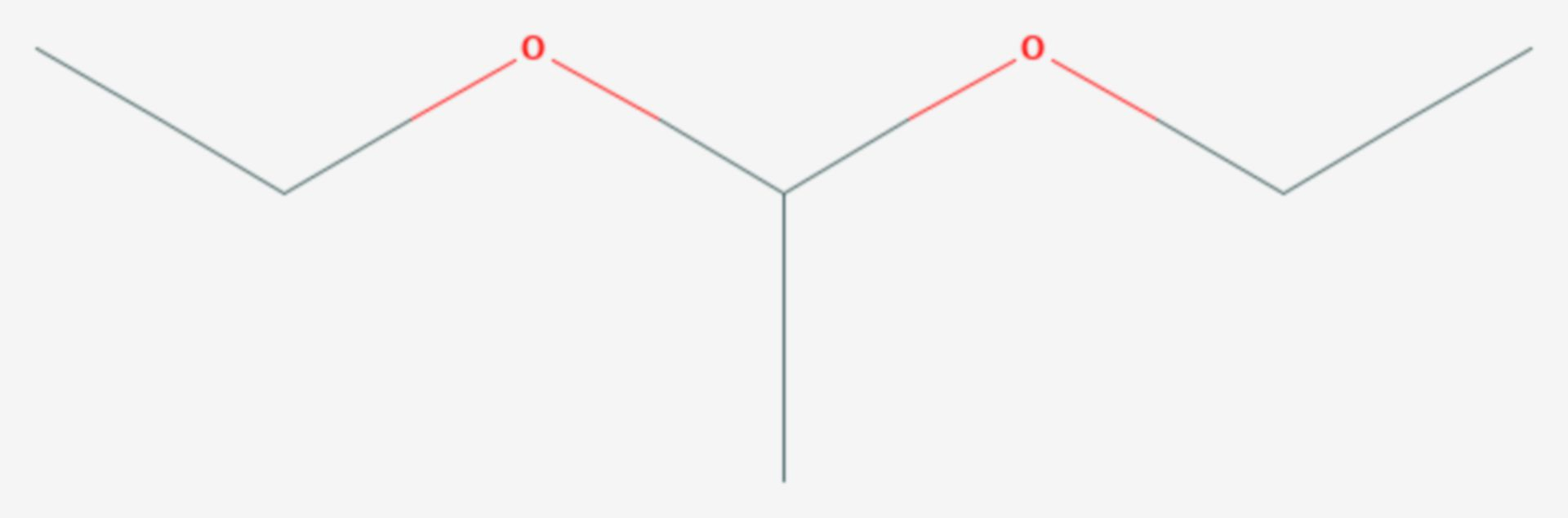 Acetaldehyddiethylacetal (Strukturformel)