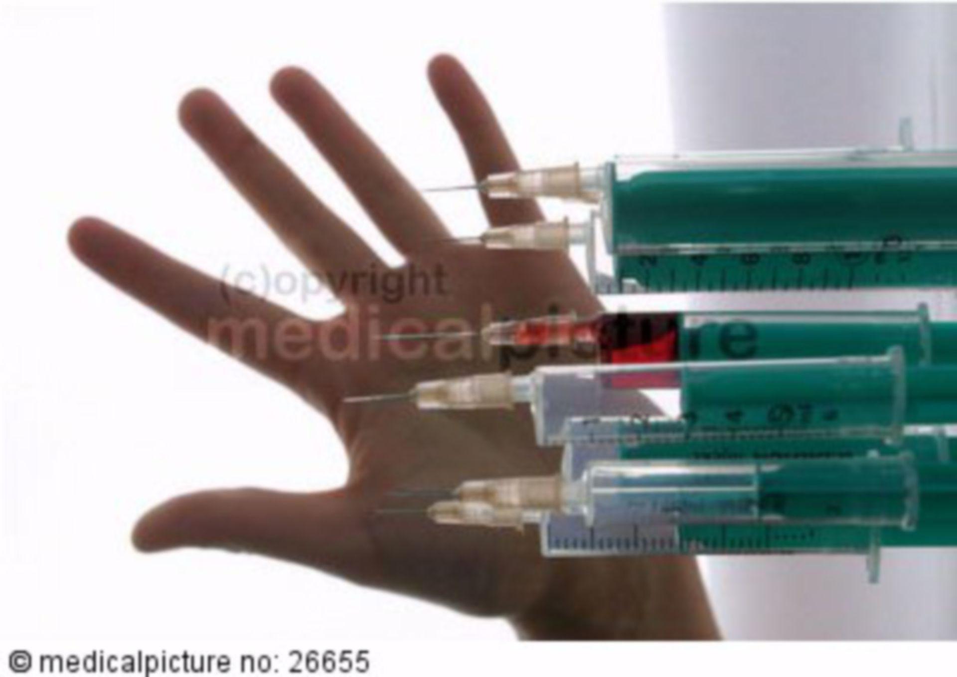 Symbol of injection injury