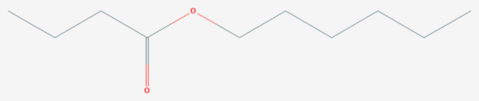 Buttersäurehexylester (Strukturformel)