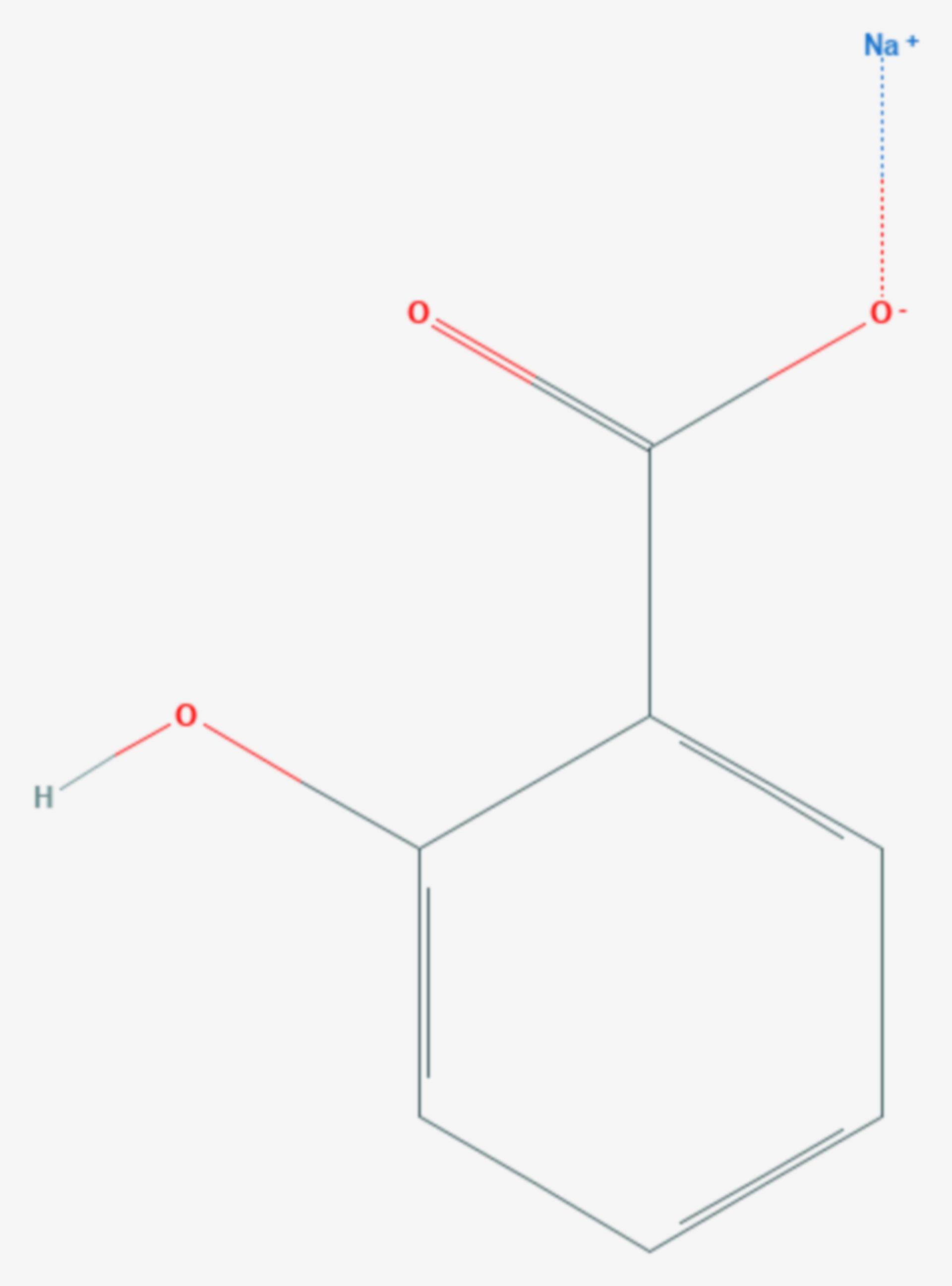 Natriumsalicylat (Strukturformel)