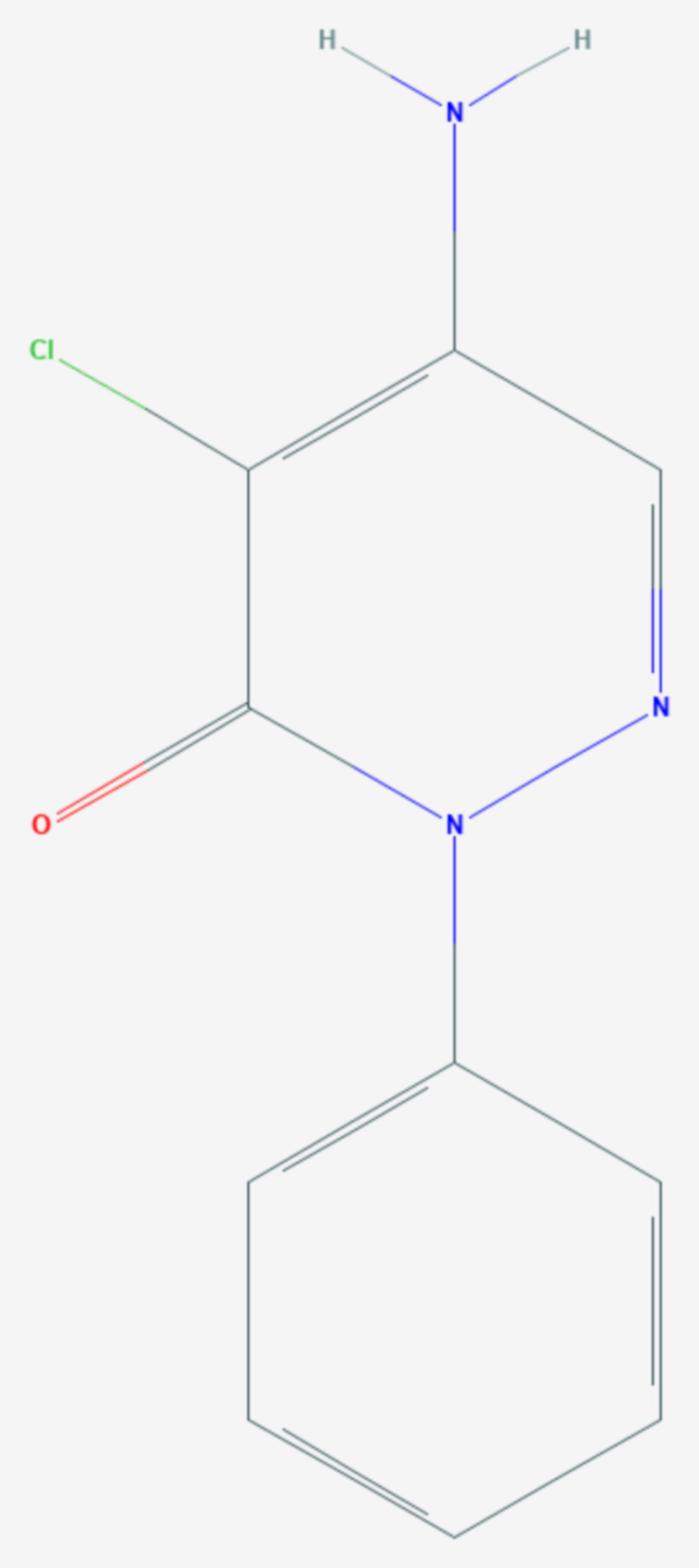 Chloridazon (Strukturformel)