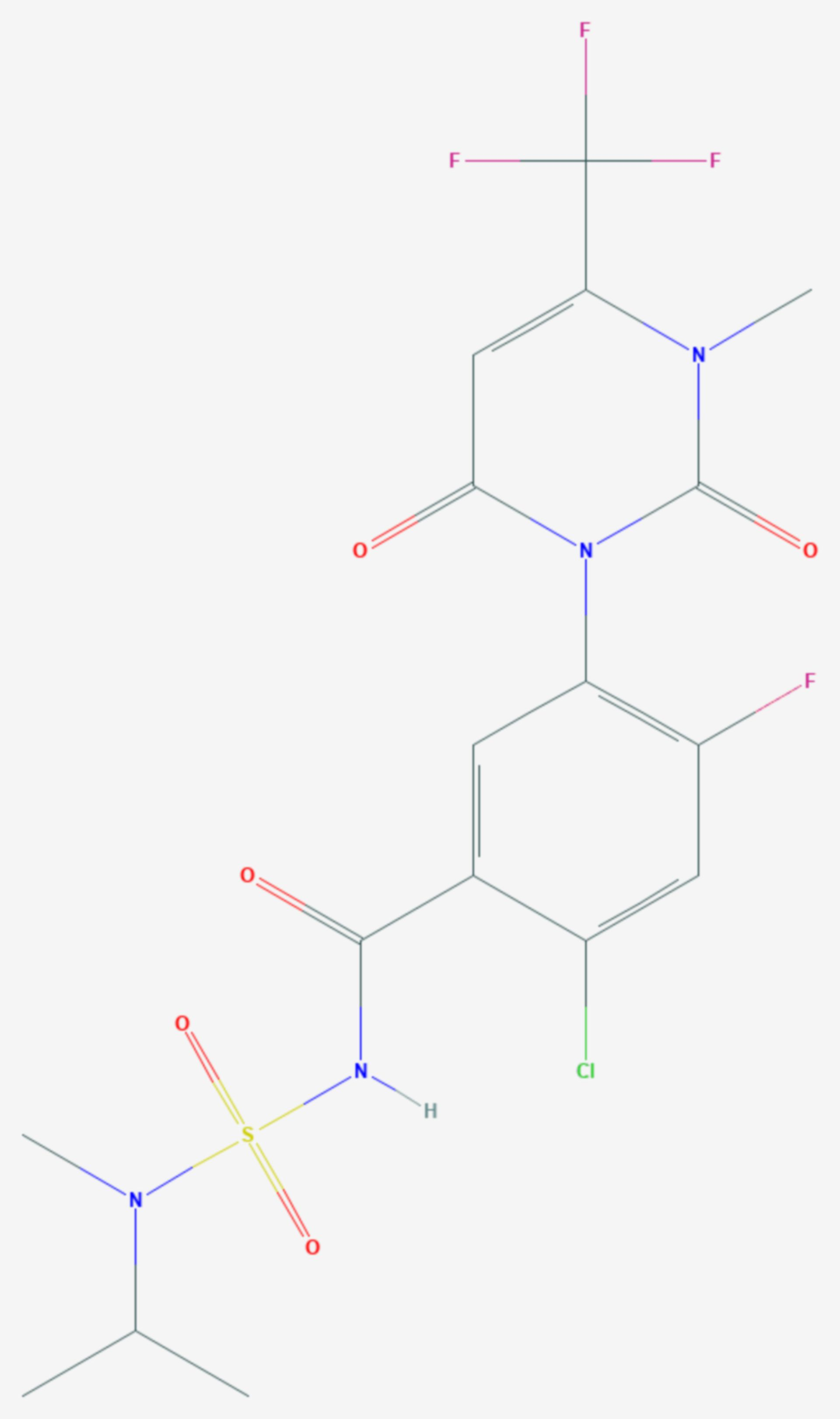 Saflufenacil (Strukturformel)