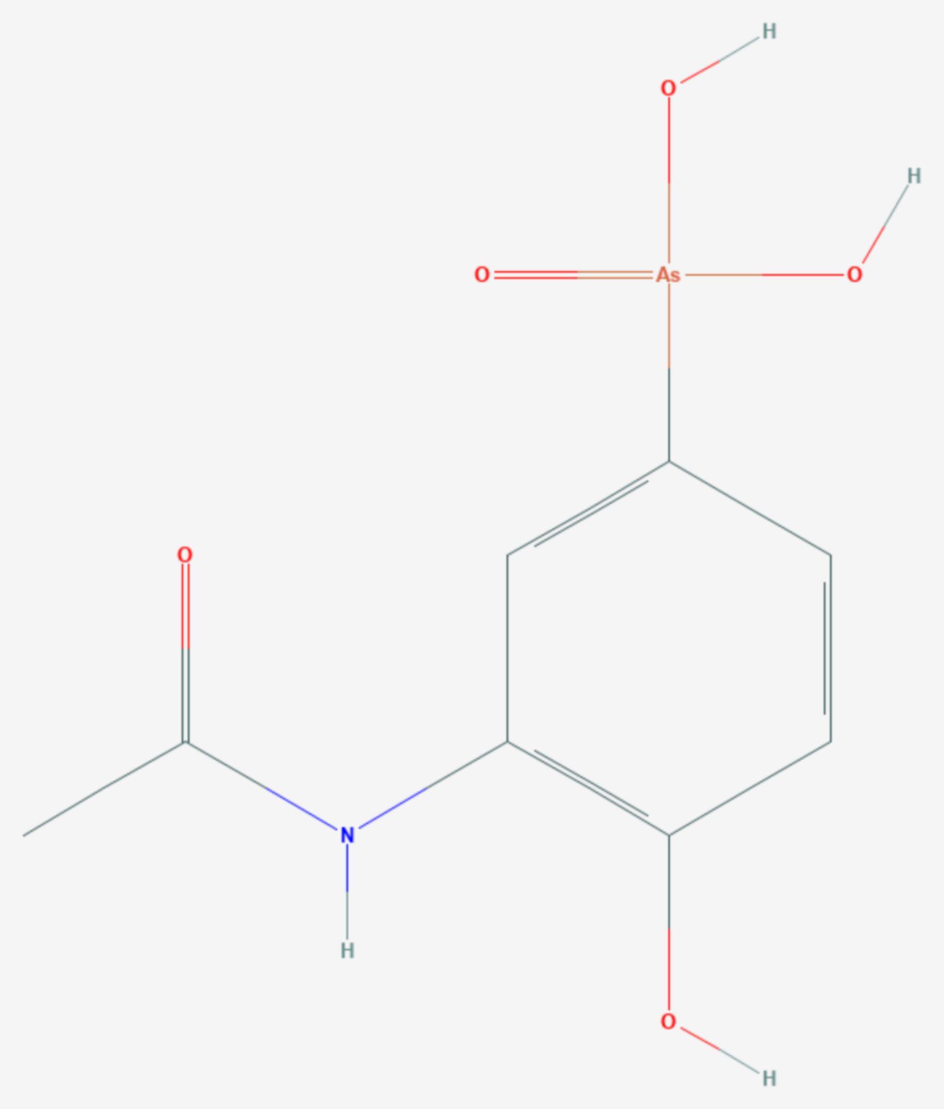 Acetarsol (Strukturformel)
