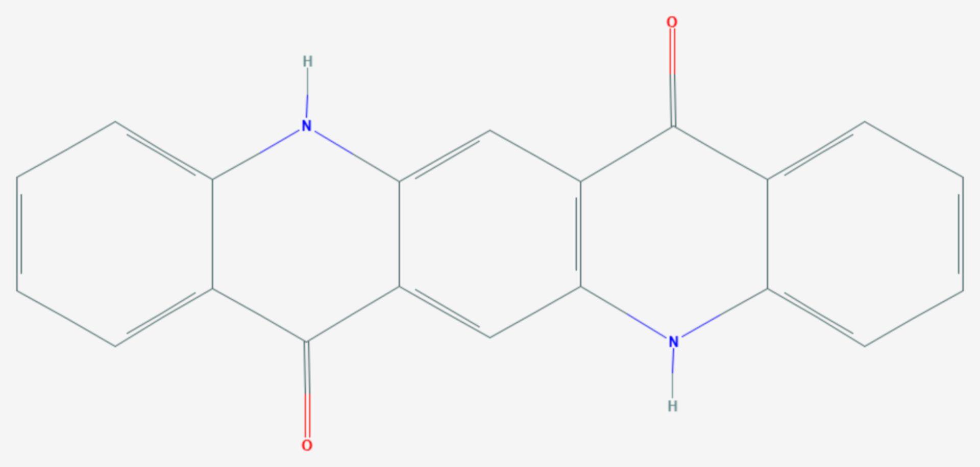 Chinacridon (Strukturformel)