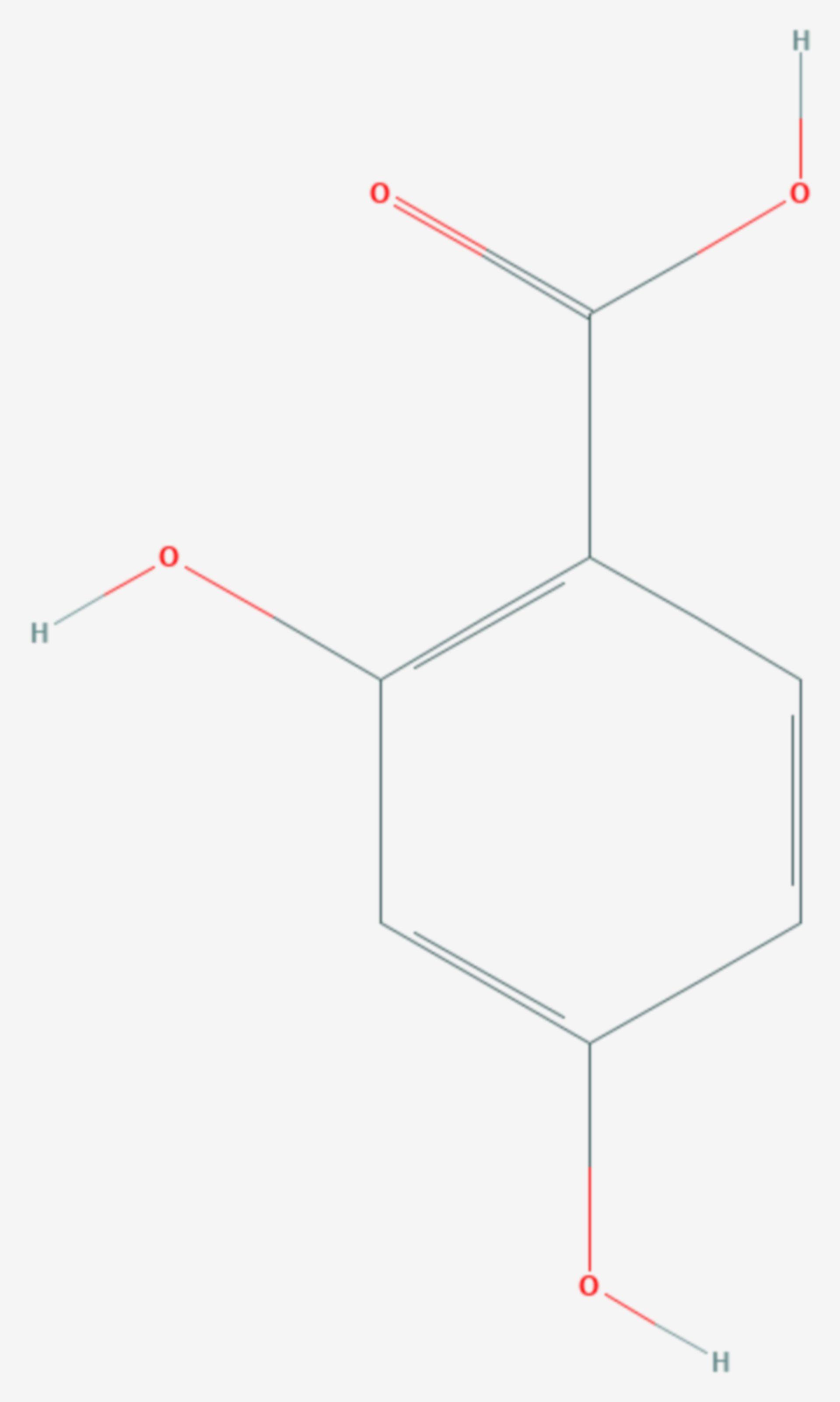 2,4-Dihydroxybenzoesäure (Strukturformel)
