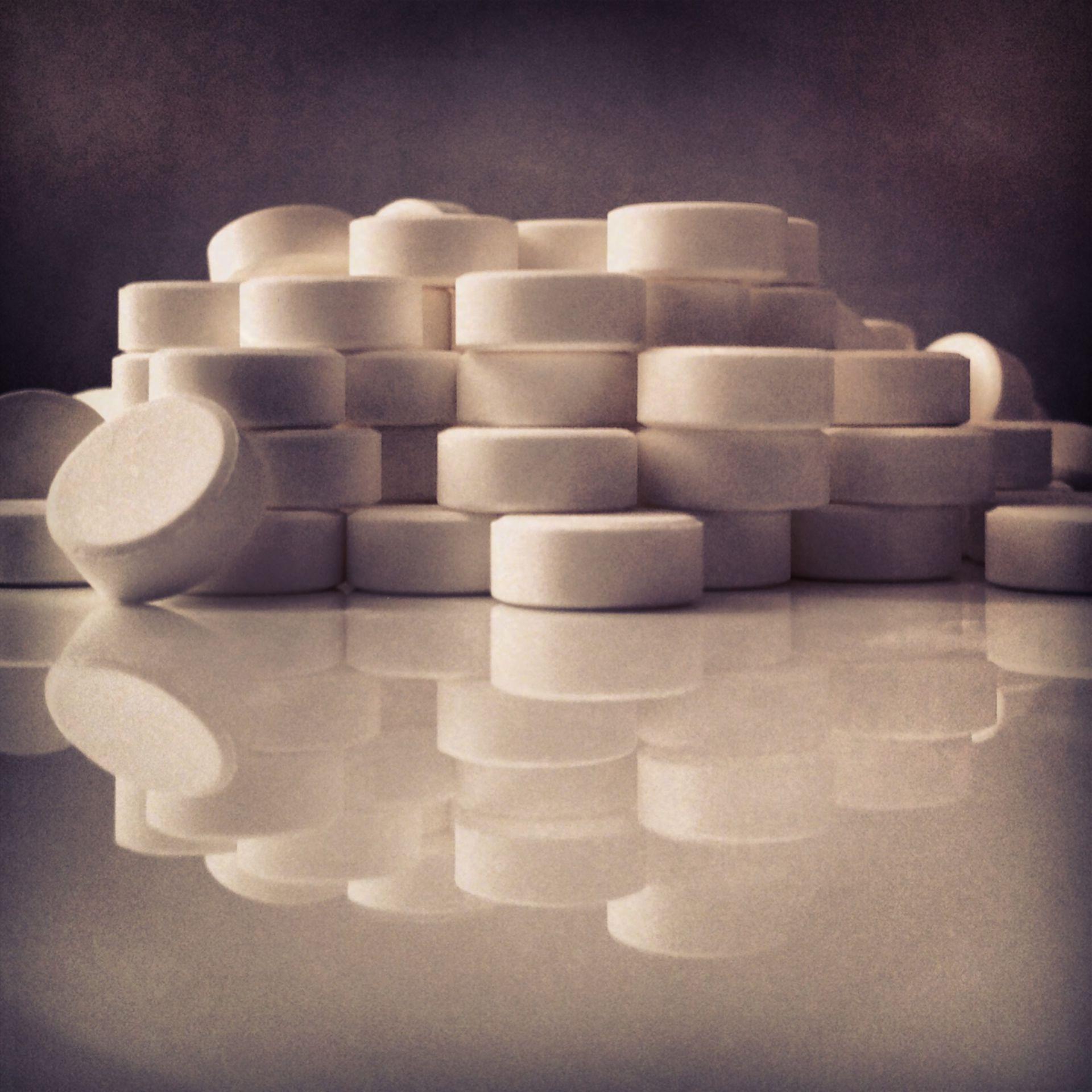 Tablettenhaufen frontal