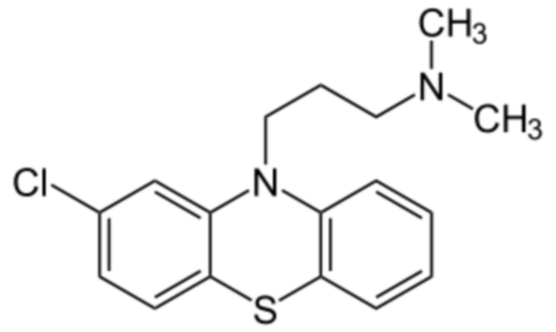 Chlorpromazin Strukturformel