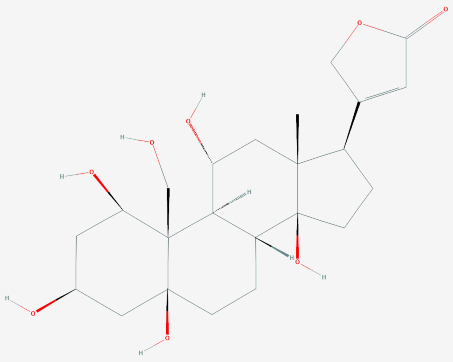 Ouabagenin (Strukturformel)