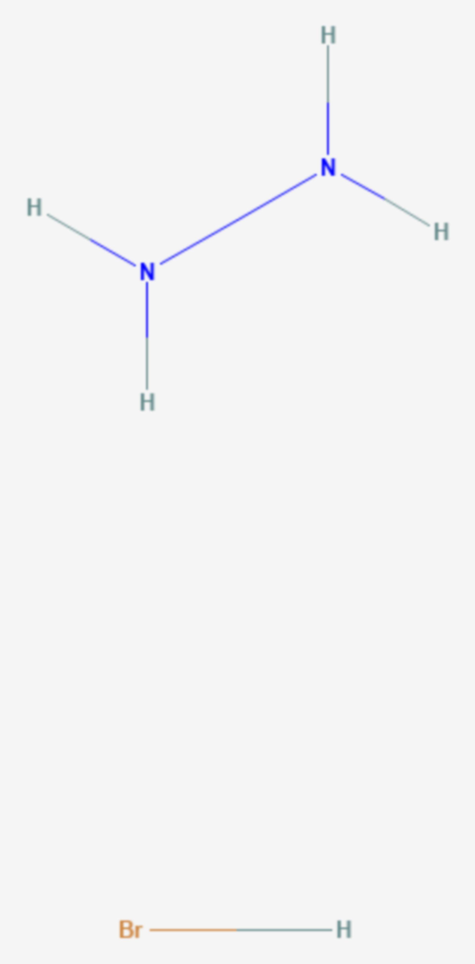Hydraziniumbromid (Strukturformel)