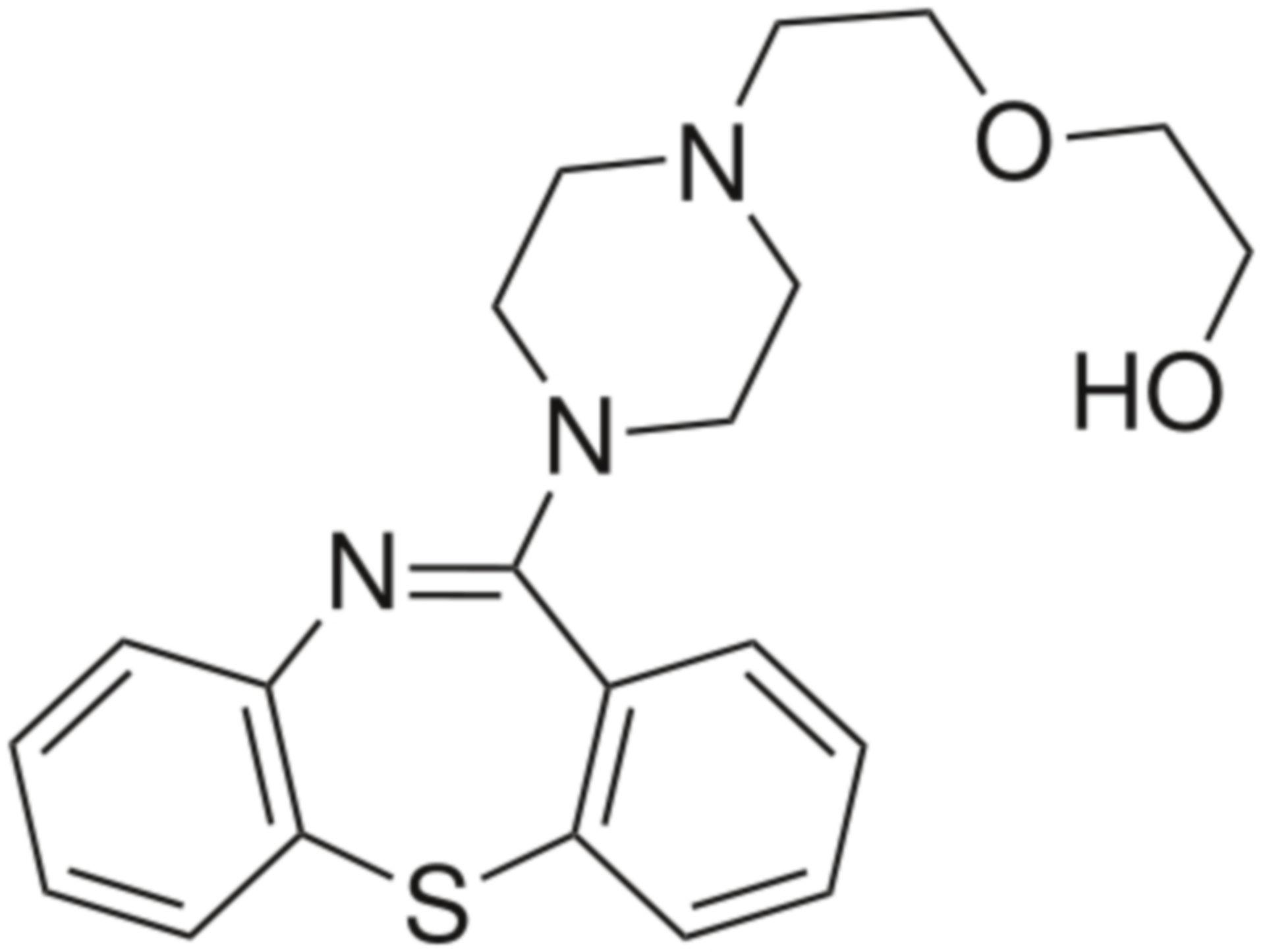 Quetiapine Strukturformel