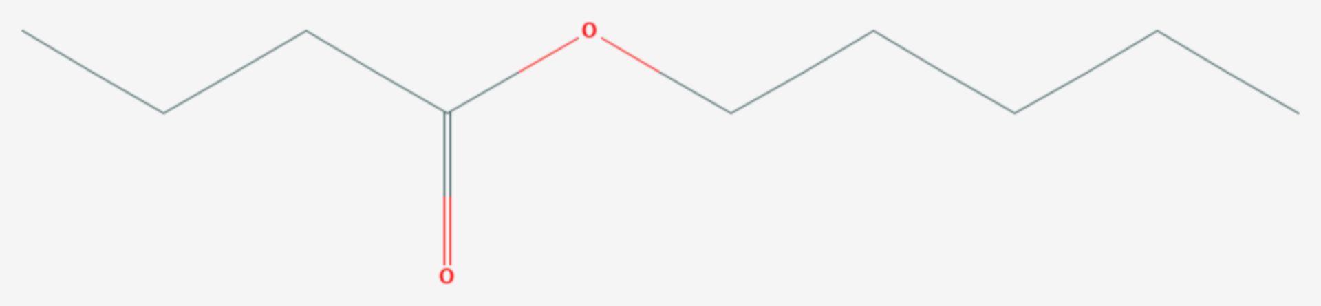 Buttersäurepentylester (Strukturformel)