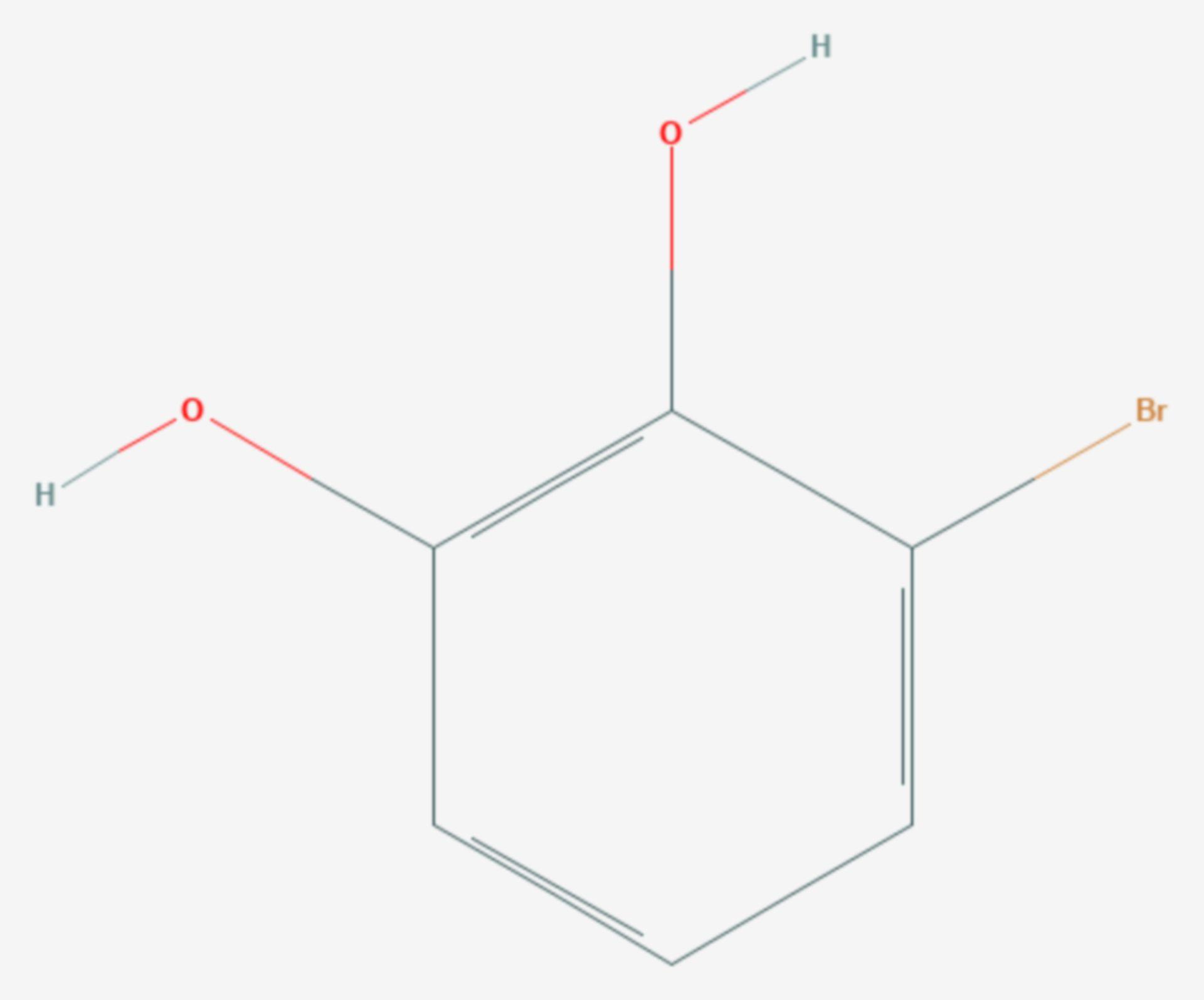 3-Brombrenzcatechin (Strukturformel)