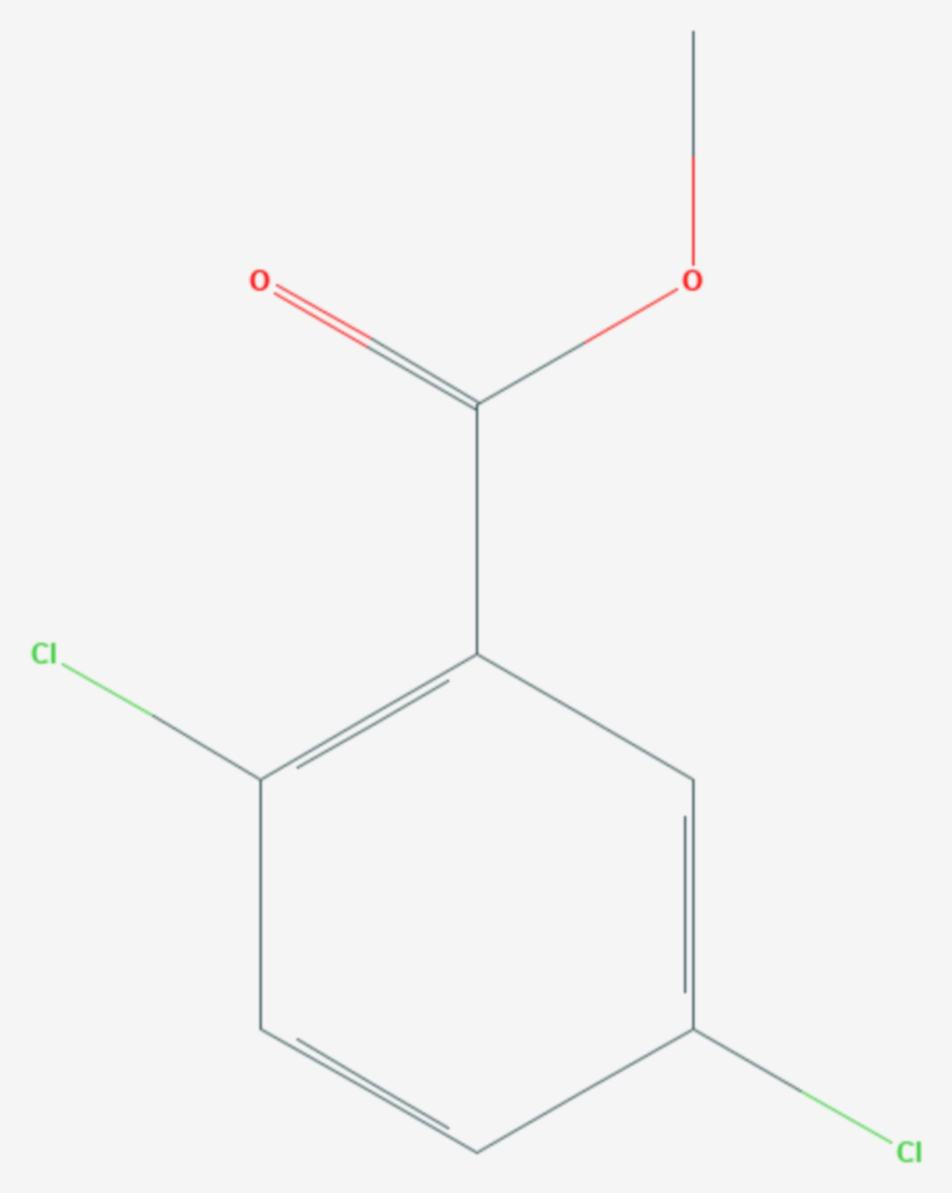 2,5-Dichlorbenzoesäuremethylester (Strukturformel)