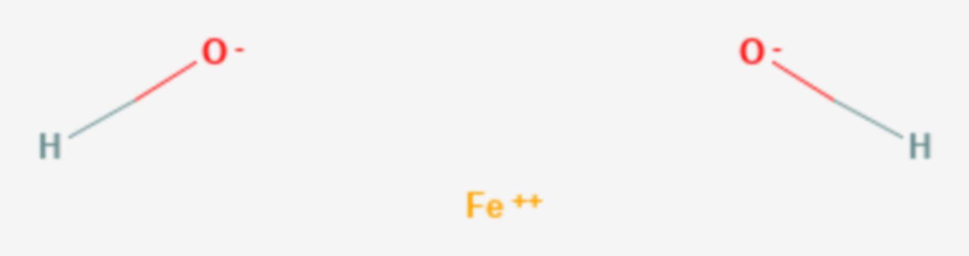 Eisen(II)-hydroxid (Strukturformel)