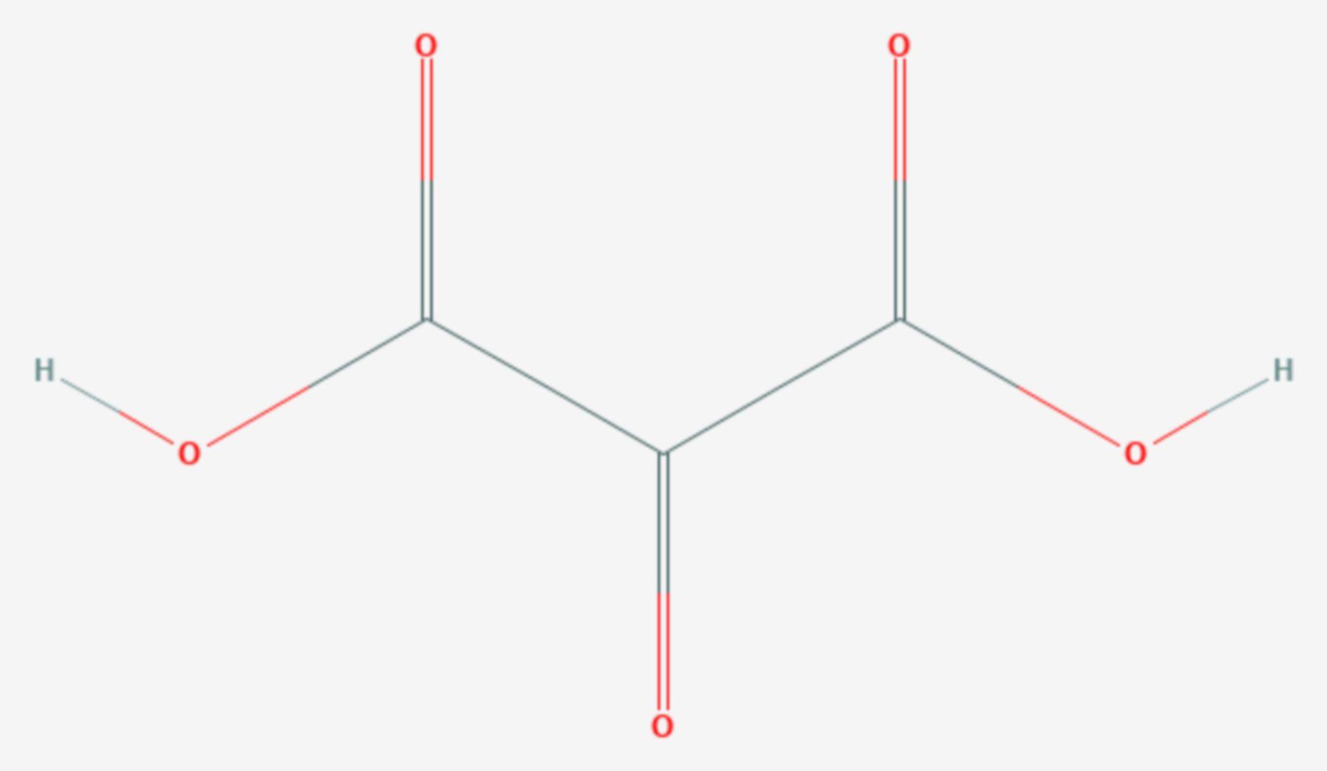 Mesoxalsäure (Strukturformel)