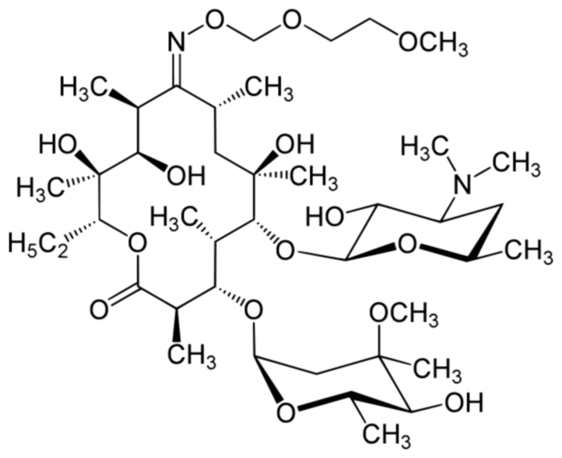 Roxithromycin Strukturformel