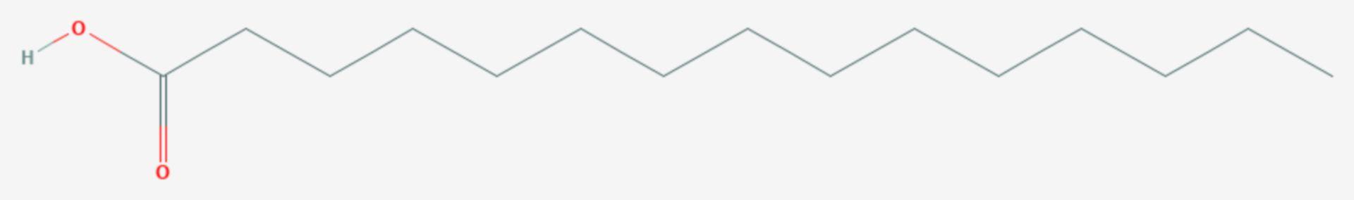 Pentadecansäure (Strukturformel)