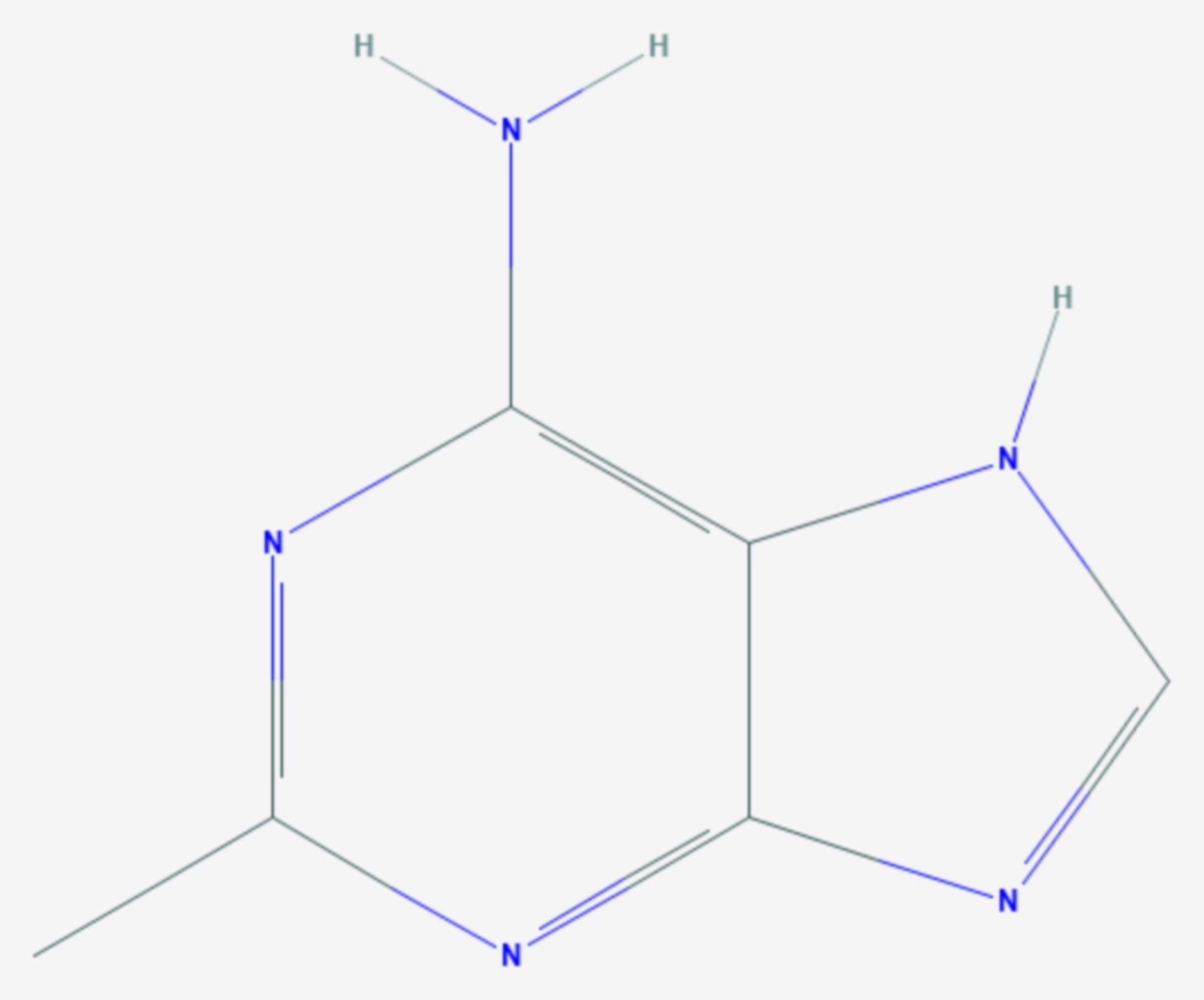 2-Methyladenin (Strukturformel)