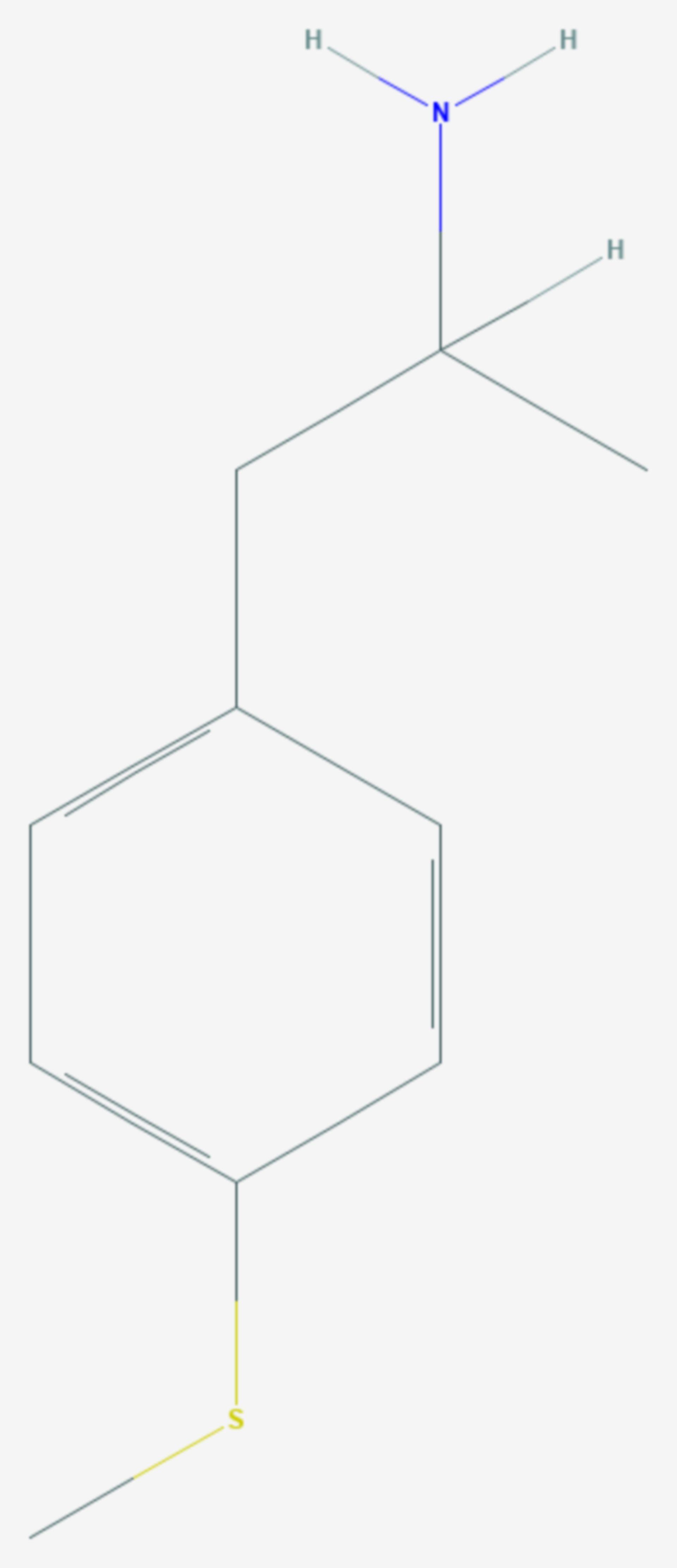 4-Methylthioamphetamin (Strukturformel)