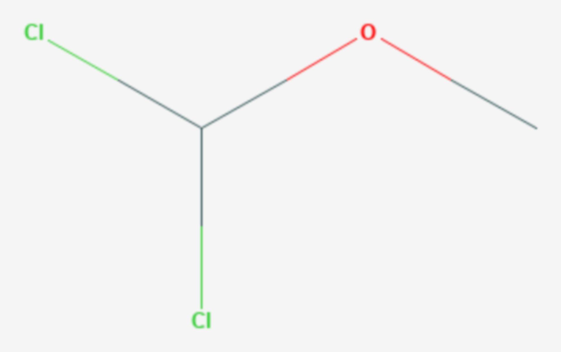(Dichlormethyl)methylether (Strukturformel)