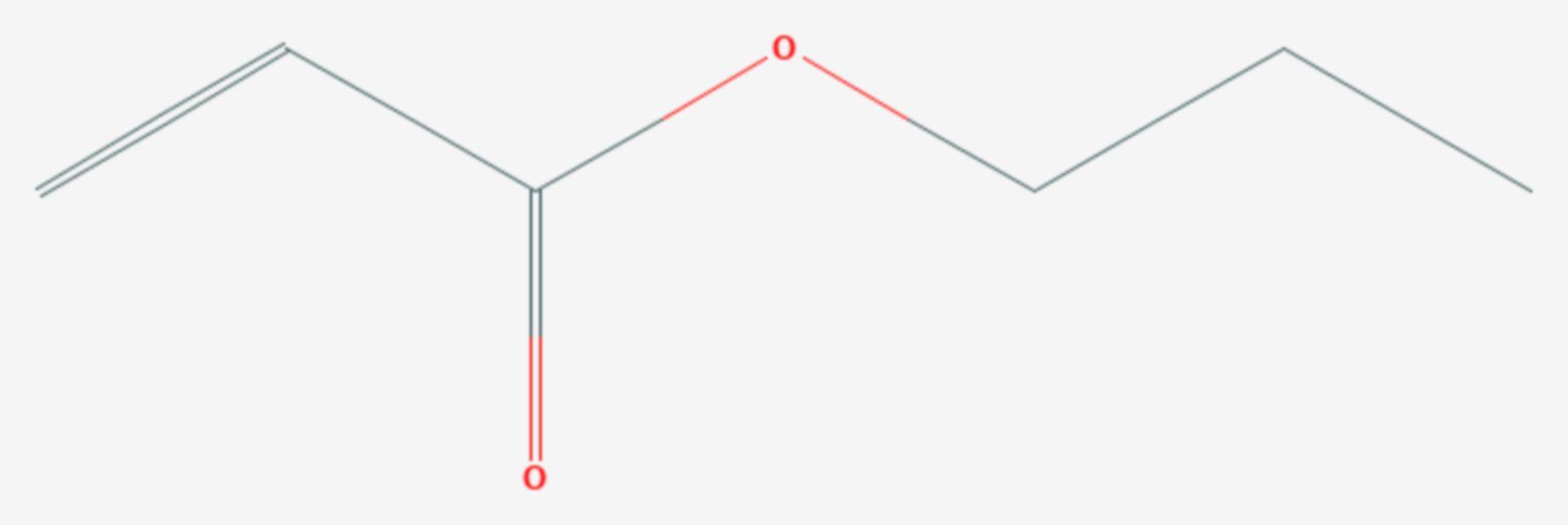 Acrylsäurepropylester (Strukturformel)