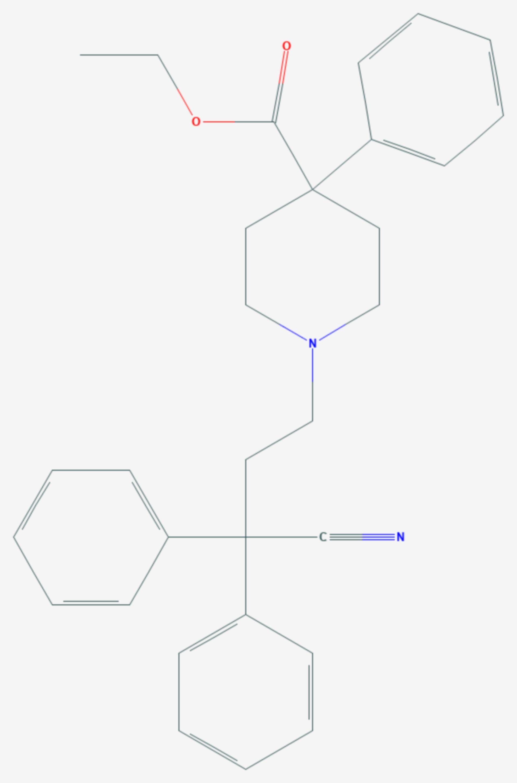Diphenoxylat (Strukturformel)