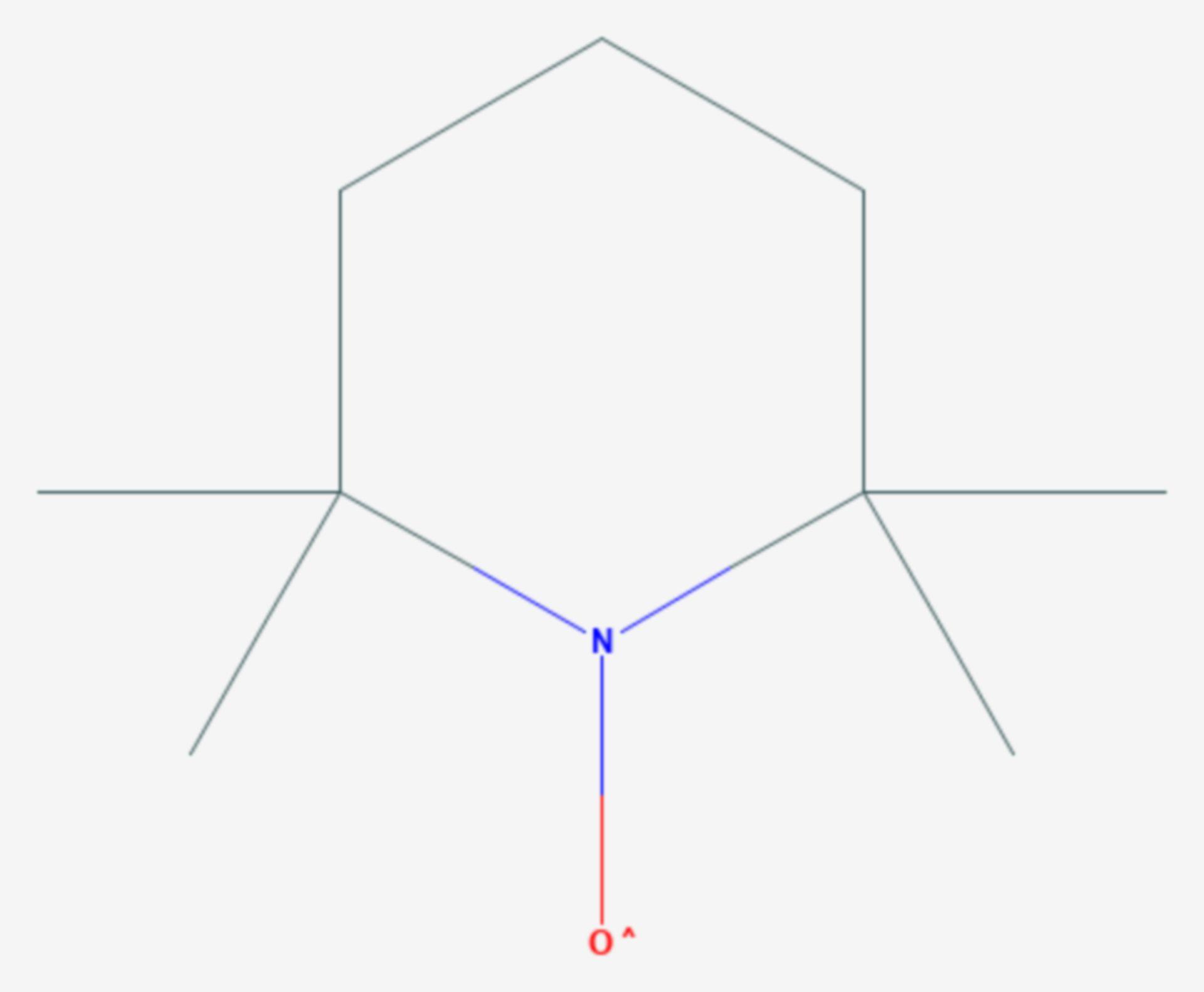 2,2,6,6-Tetramethylpiperidinyloxyl (Strukturformel)