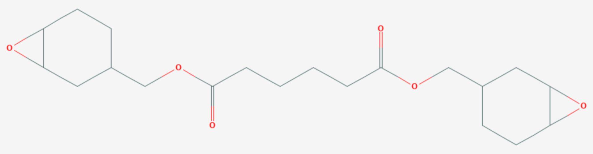 Bis(3,4-epoxycyclohexylmethyl)-adipat (Strukturformel)