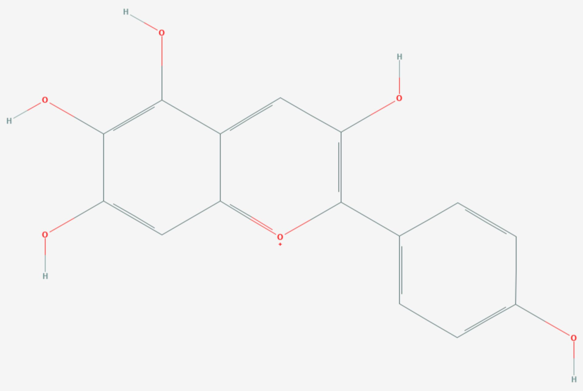 Aurantinidin (Strukturformel)