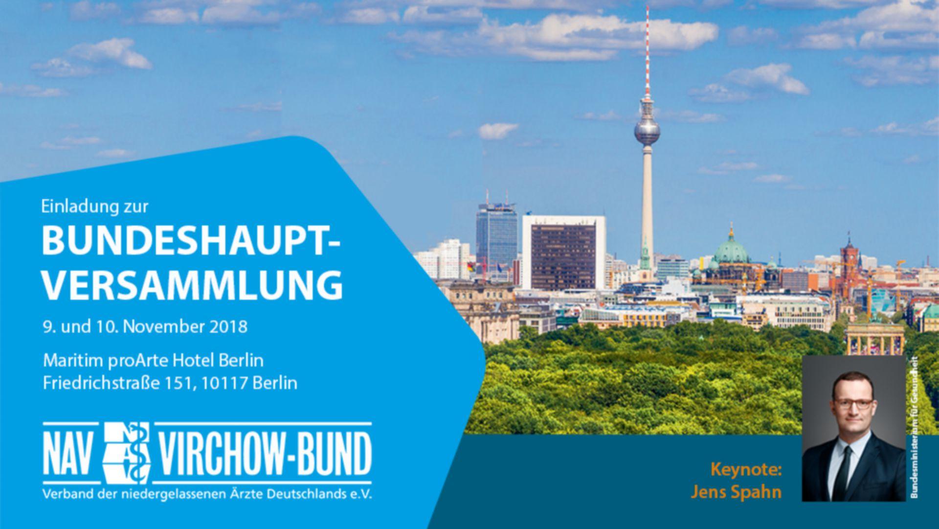 Einladung: 9.11.2018 | Diskussion mit Jens Spahn & NAV-Virchow-Bund