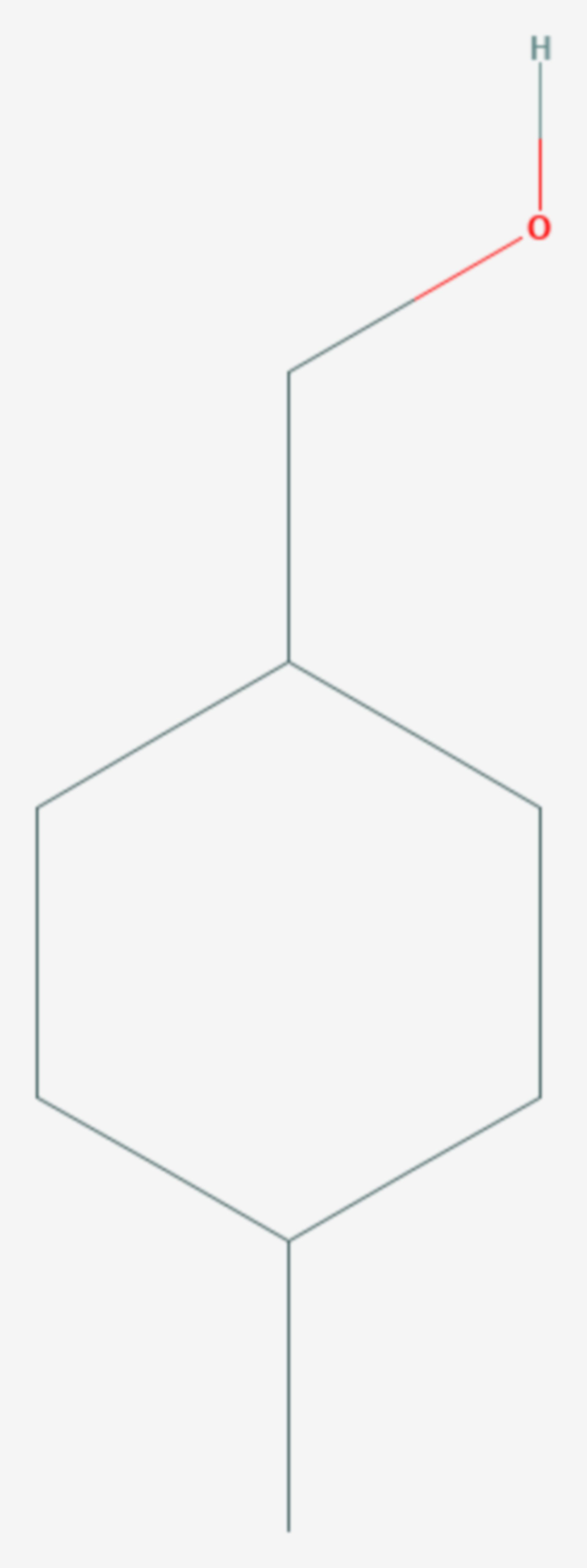 4-Methylcyclohexylmethanol (Strukturformel)