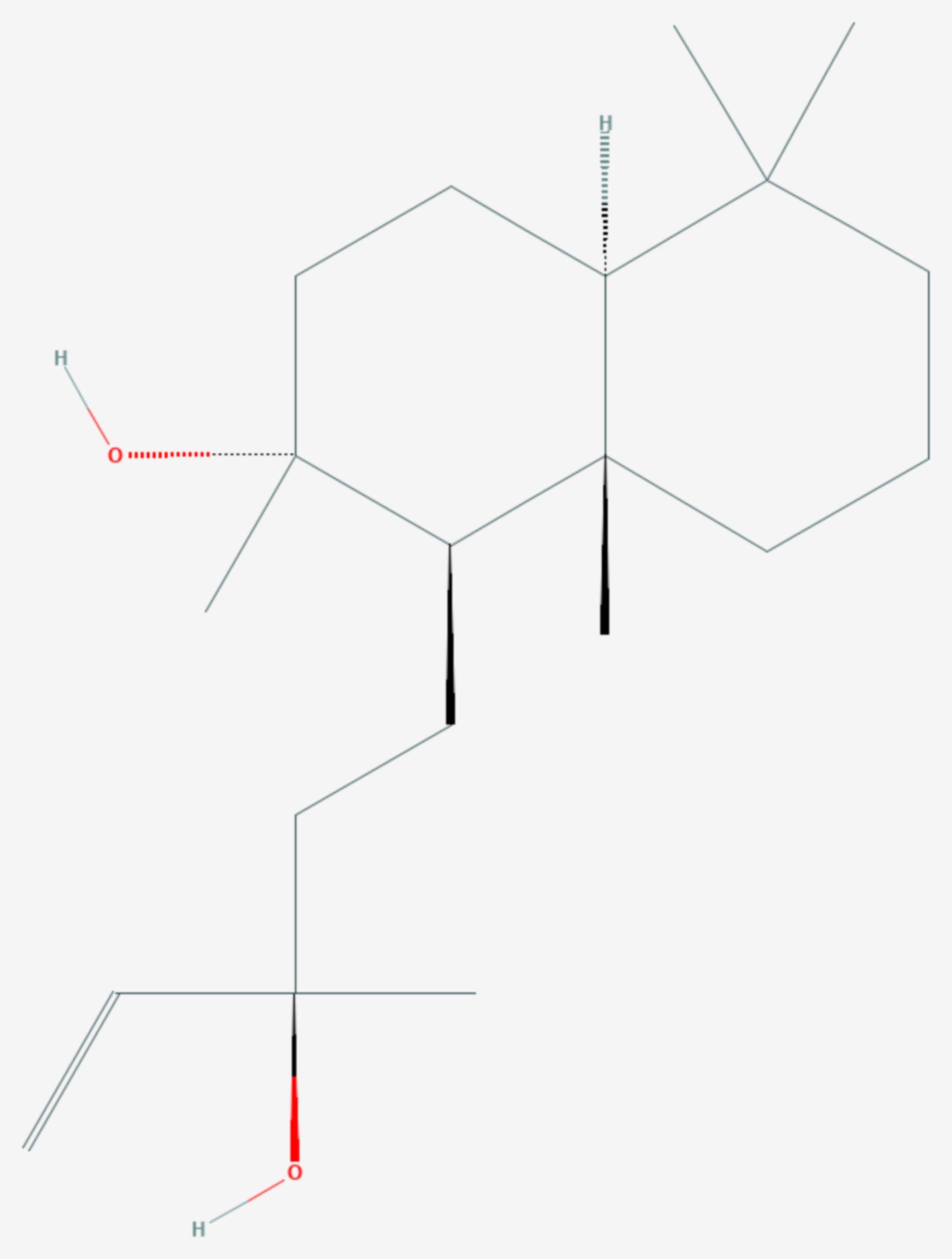 Sclareol (Strukturformel)