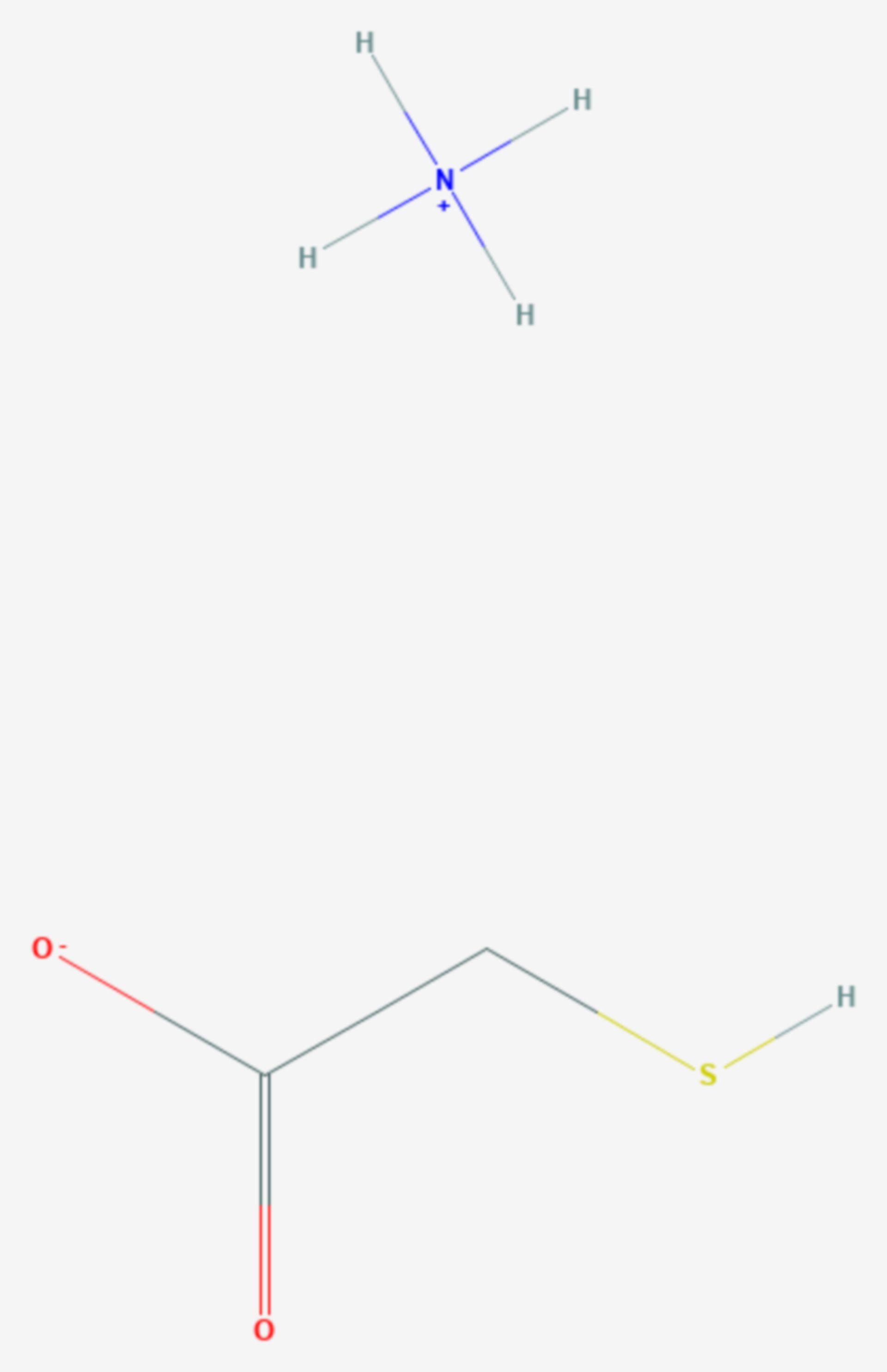 Ammoniumthioglycolat (Strukturformel)