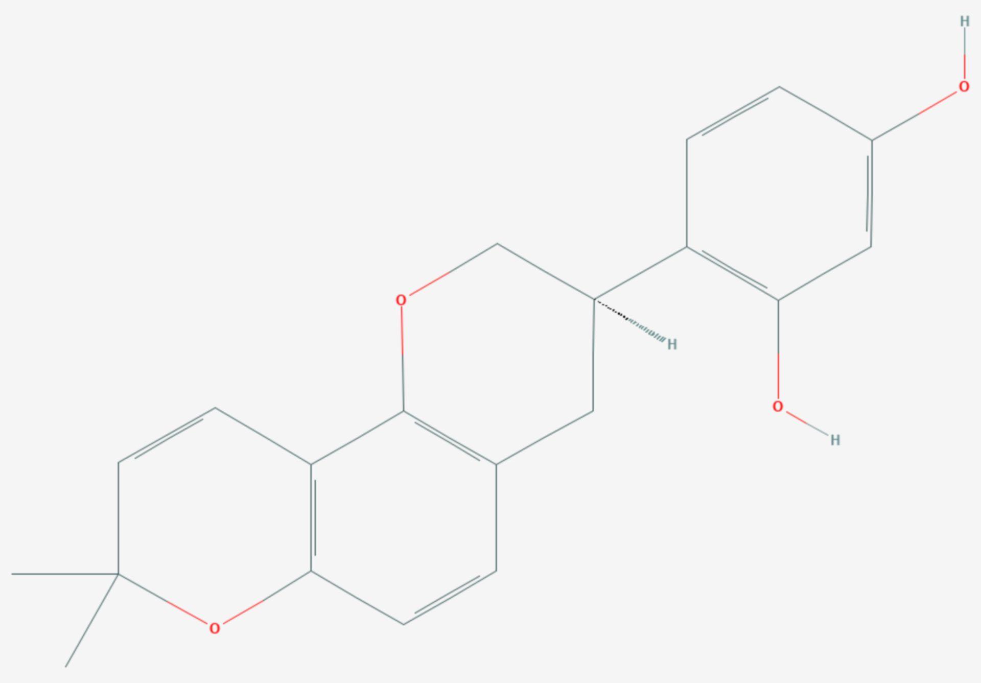 Glabridin (Strukturformel)