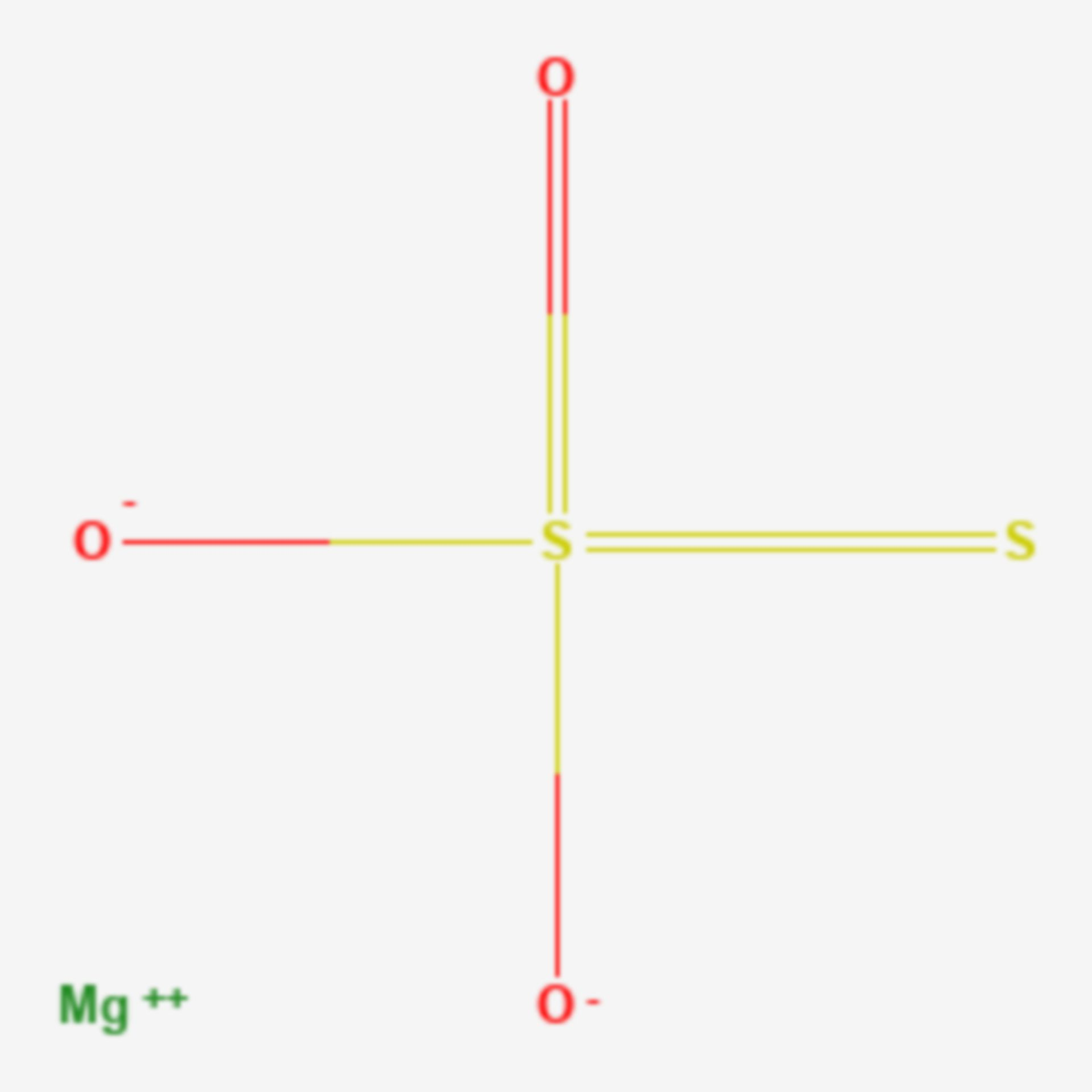 Magnesiumthiosulfat (Strukturformel)