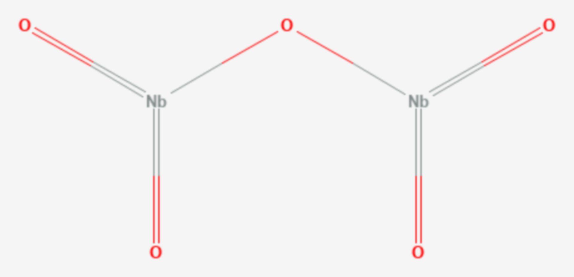 Niob(V)-oxid (Strukturformel)
