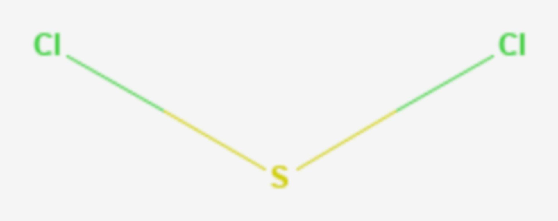 Schwefeldichlorid (Strukturformel)