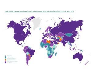 Diabeteskosten weltweit, jährlich. Credit: IDF Diabetes Atlas