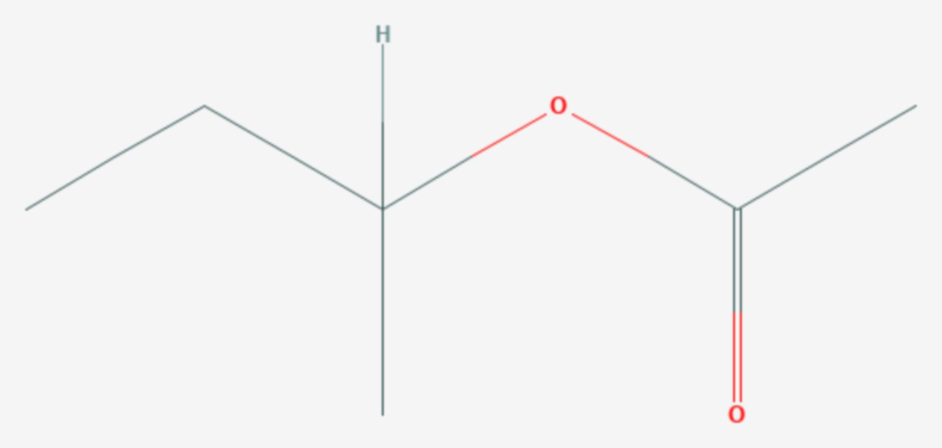 Essigsäure-sec-butylester (Strukturformel)