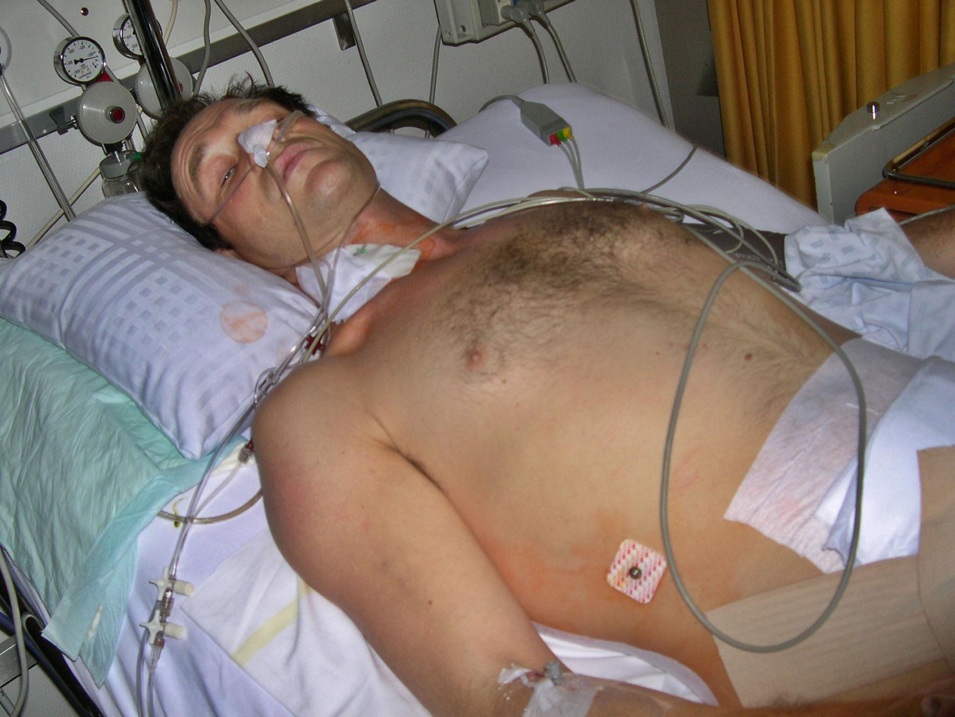 Prima foto in ospedale del fotografo