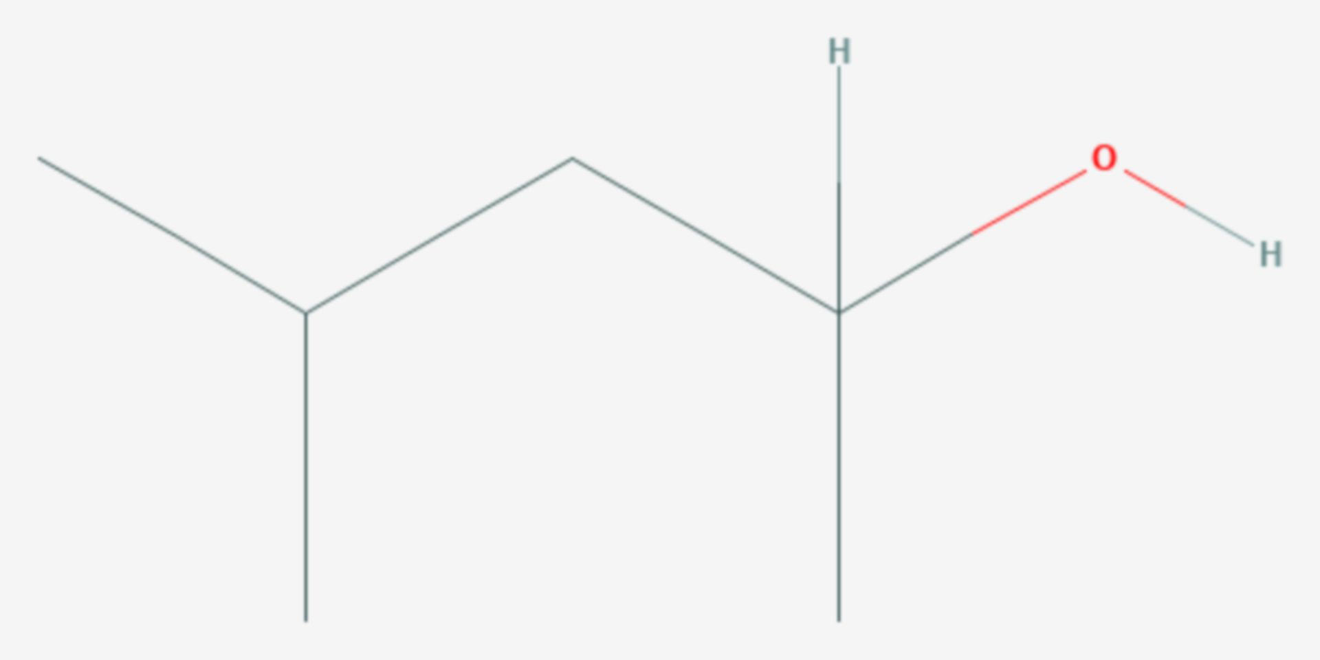 4-Methyl-2-pentanol (Strukturformel)