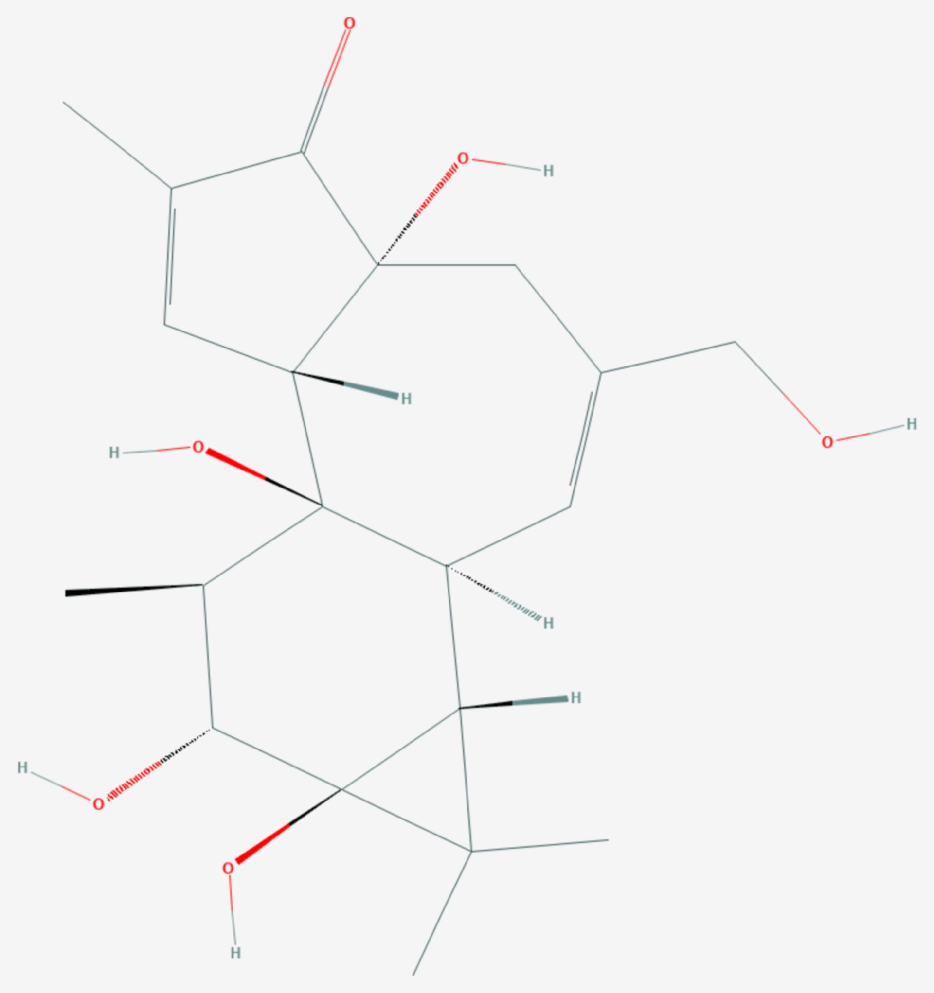 Phorbol (Strukturformel)