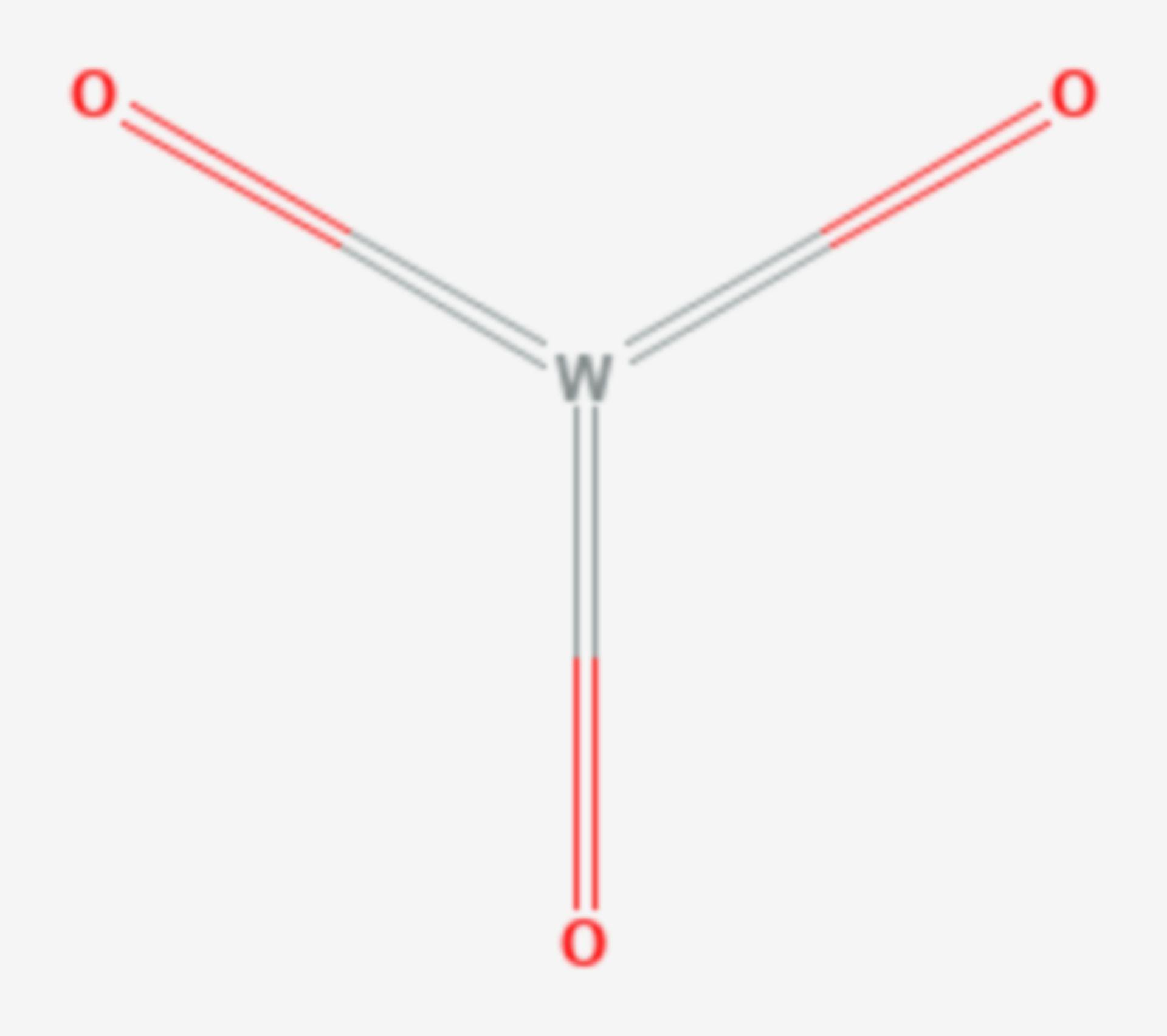 Wolfram(VI)-oxid (Strukturformel)