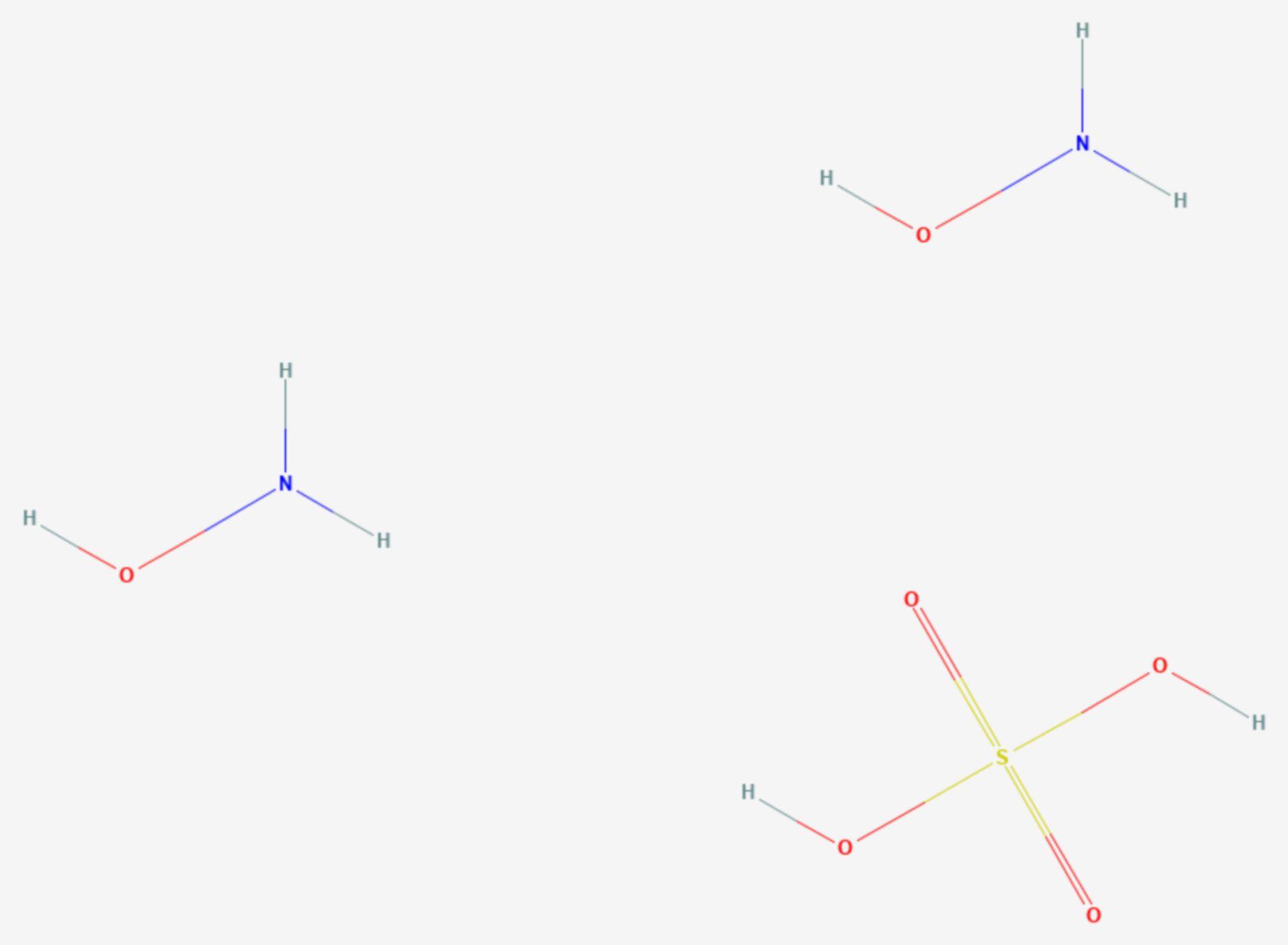 Bis(hydroxylammonium)sulfat (Strukturformel)
