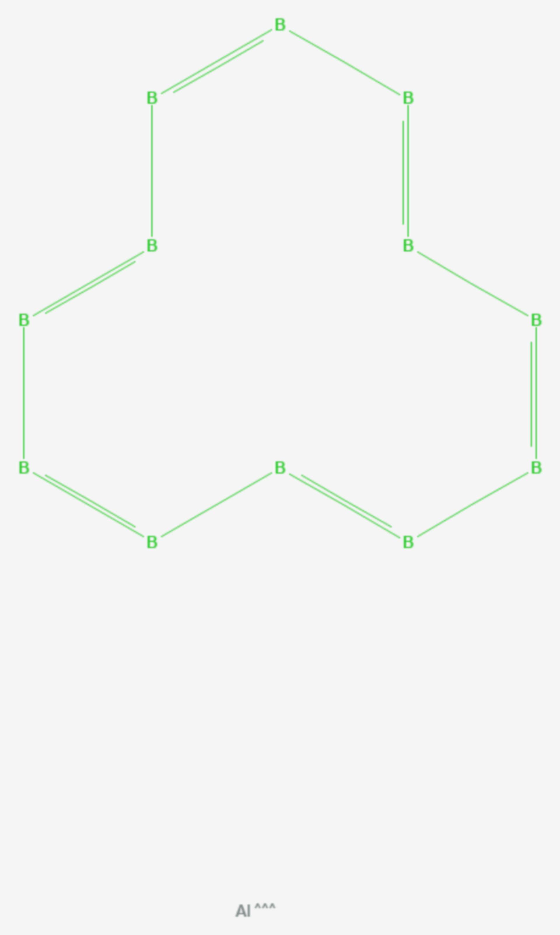Aluminiumdodecaborid (Strukturformel)