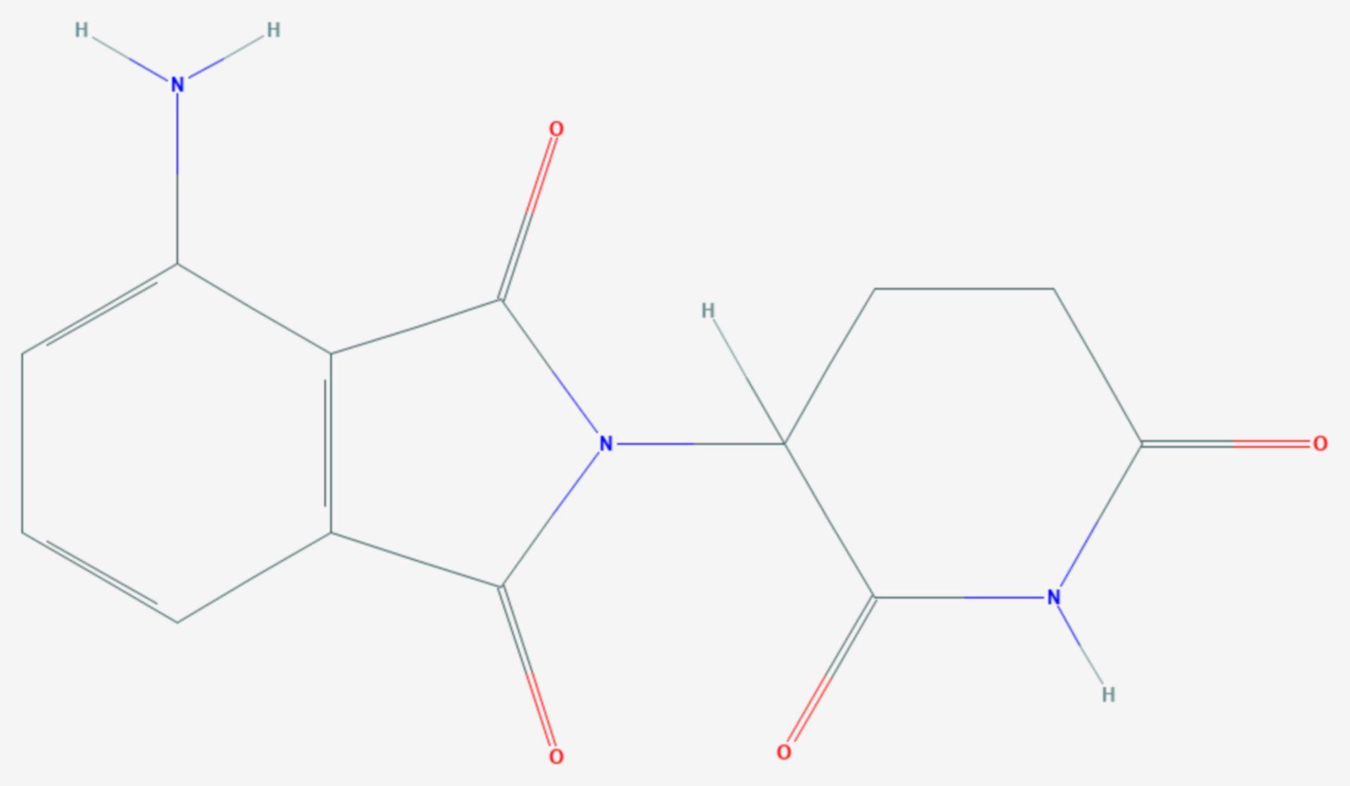 Pomalidomid (Strukturformel)