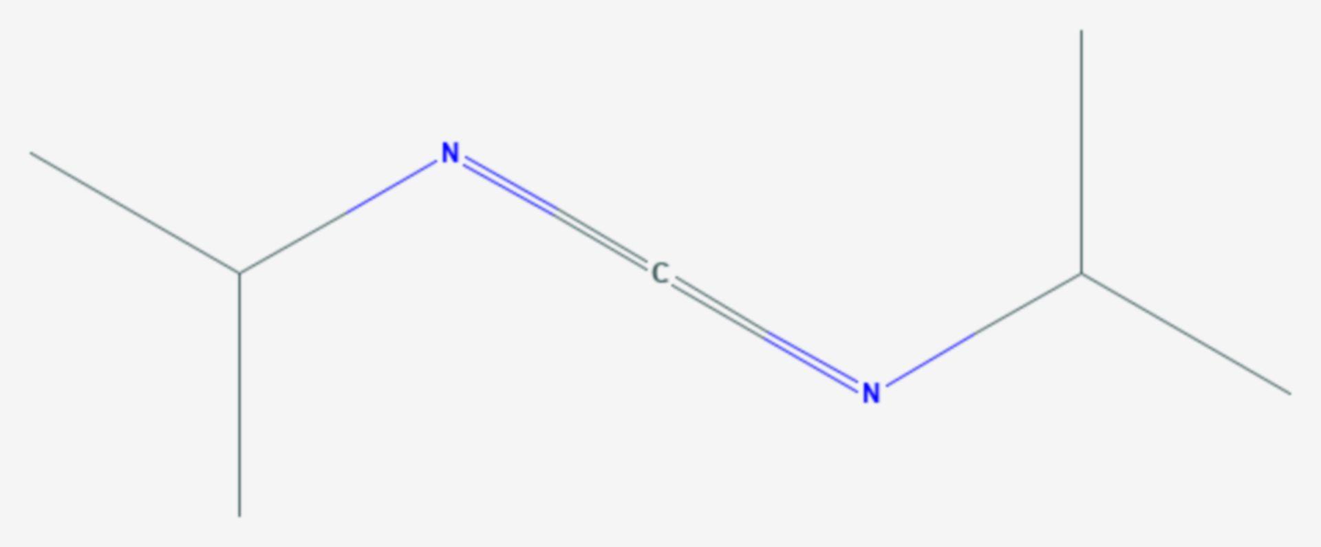 Diisopropylcarbodiimid (Strukturformel)