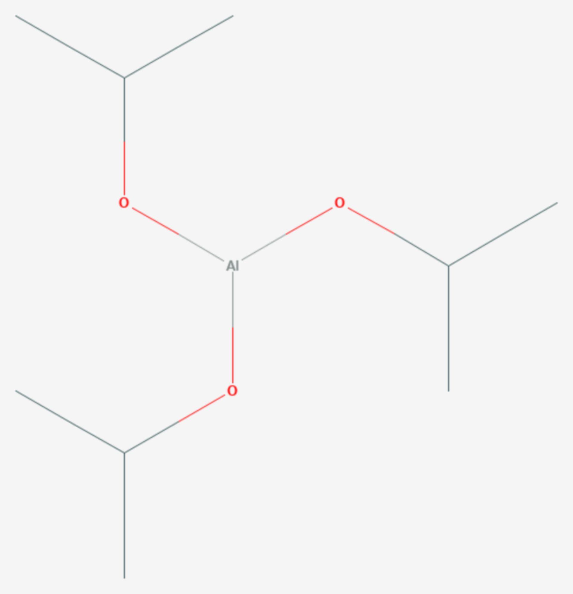 Aluminiumtriisopropanolat (Strukturformel)