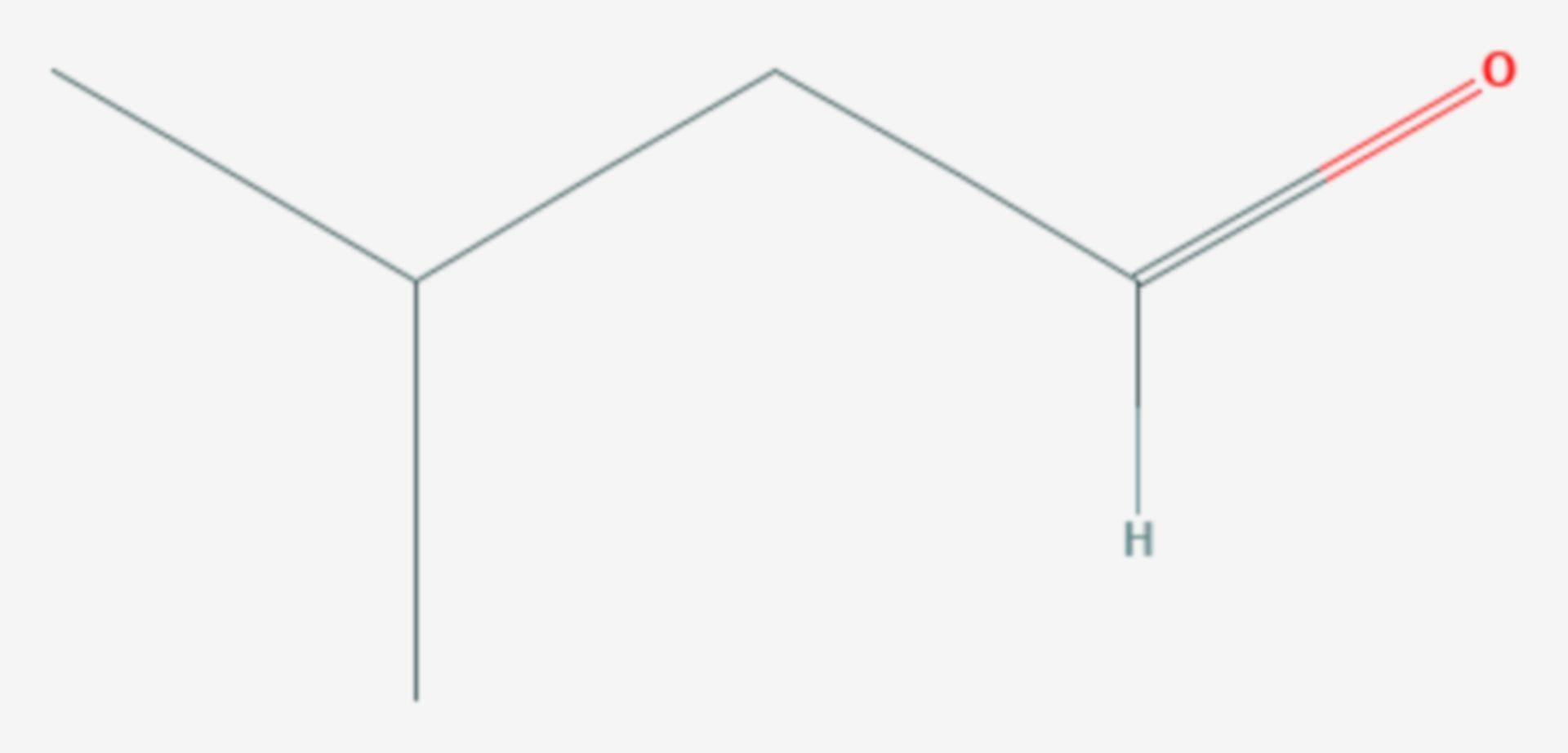 Isovaleraldehyd (Strukturformel)